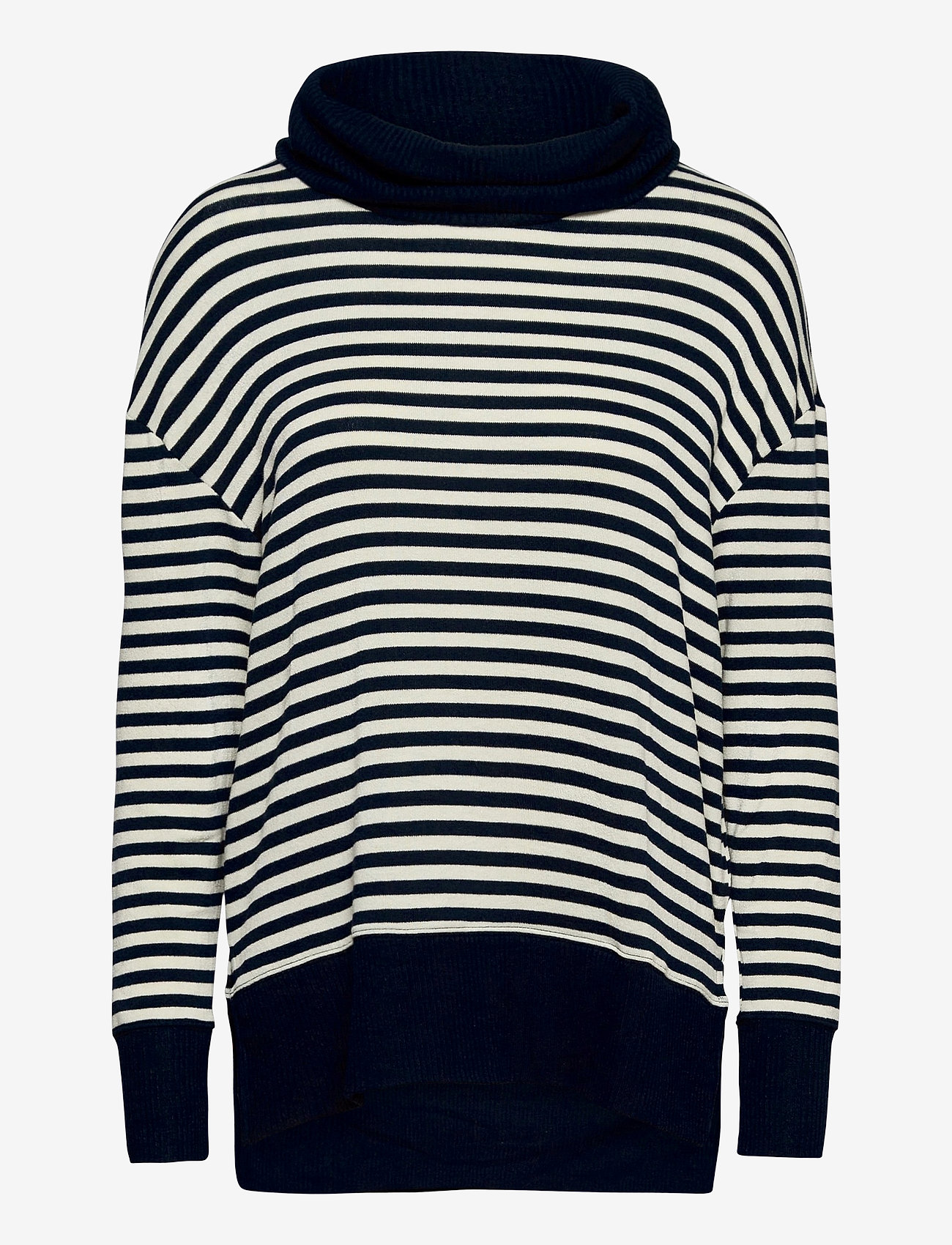 GAP - Softspun Cowl-Neck Top - turtlenecks - navy stripe - 0