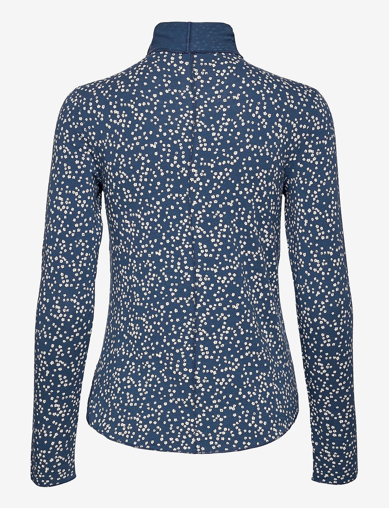 GAP - Funnel-Neck Print T-Shirt - long-sleeved tops - blue floral - 1