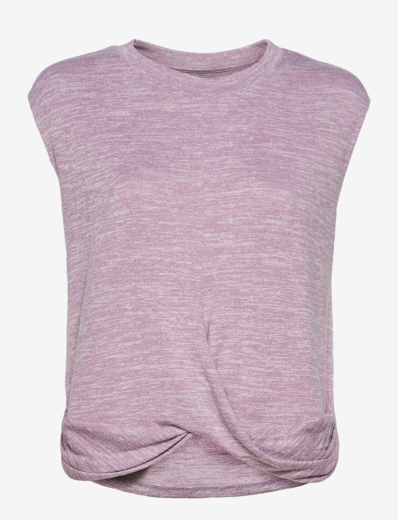 GAP - Softspun Sleeveless Twist-Knot Front T-Shirt - sleeveless tops - elderberry - 0