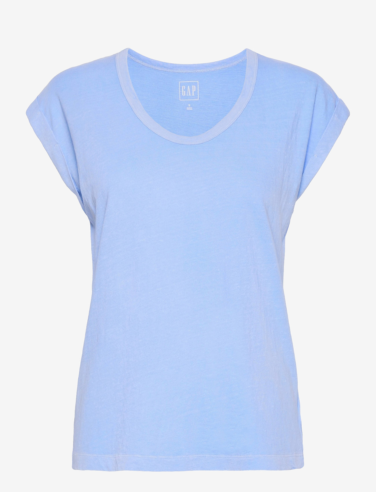 GAP - Relaxed V-Neck T-Shirt - t-shirts - distant blue - 0