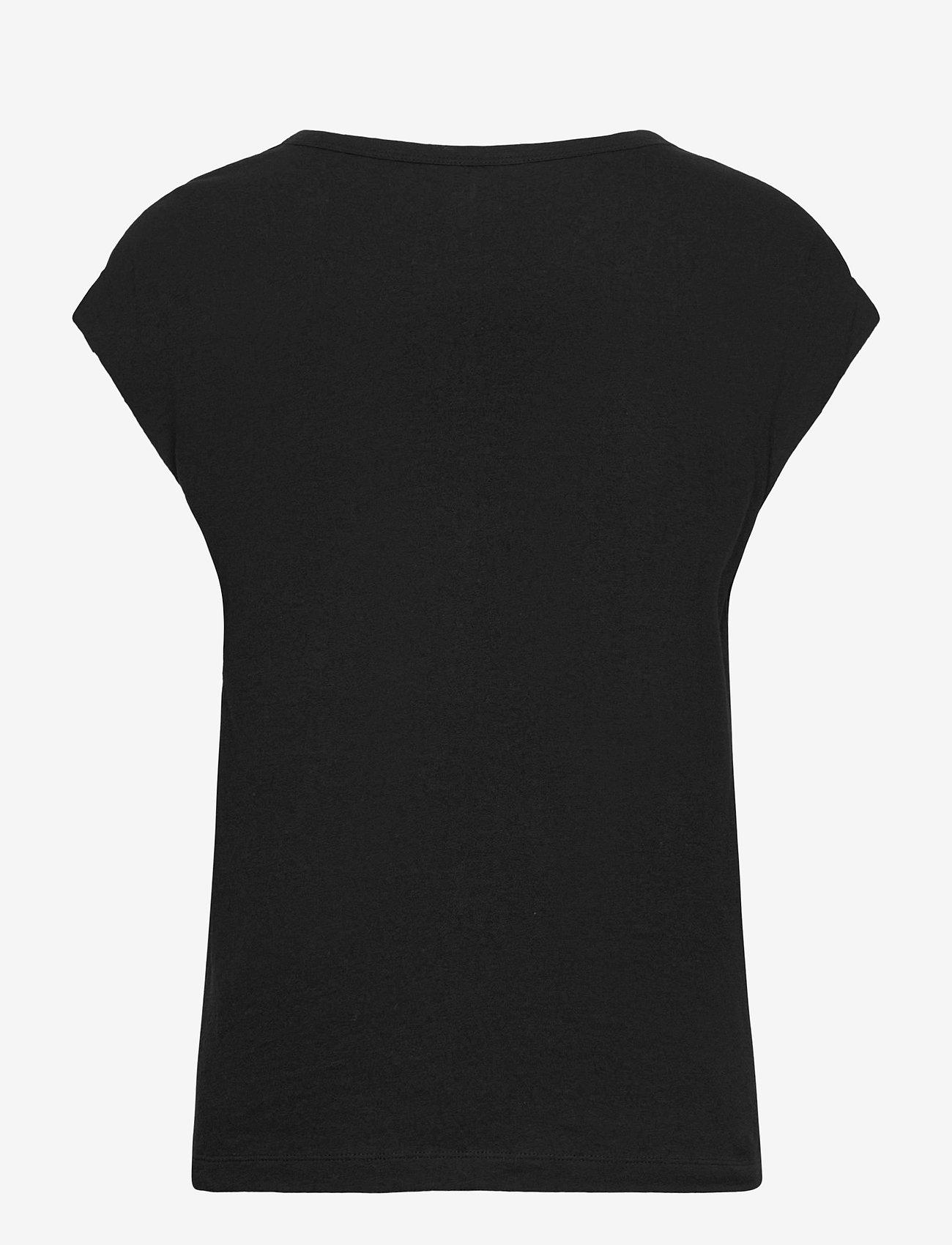 GAP - Relaxed V-Neck T-Shirt - t-shirts - true black - 1