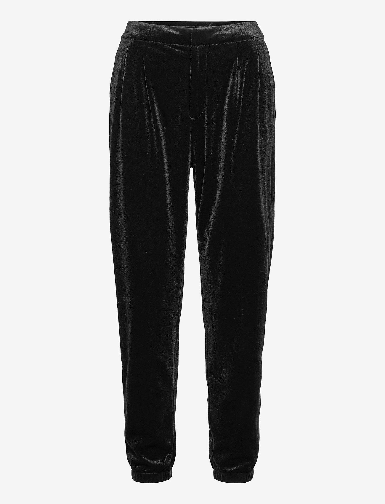 GAP - Velvet Joggers - casual trousers - true black - 0