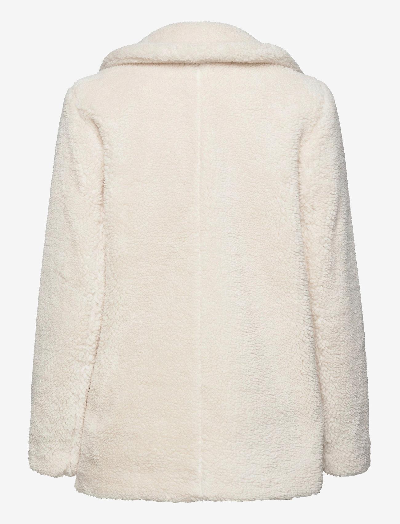 GAP - Sherpa Teddy Jacket - faux fur - ivory - 1