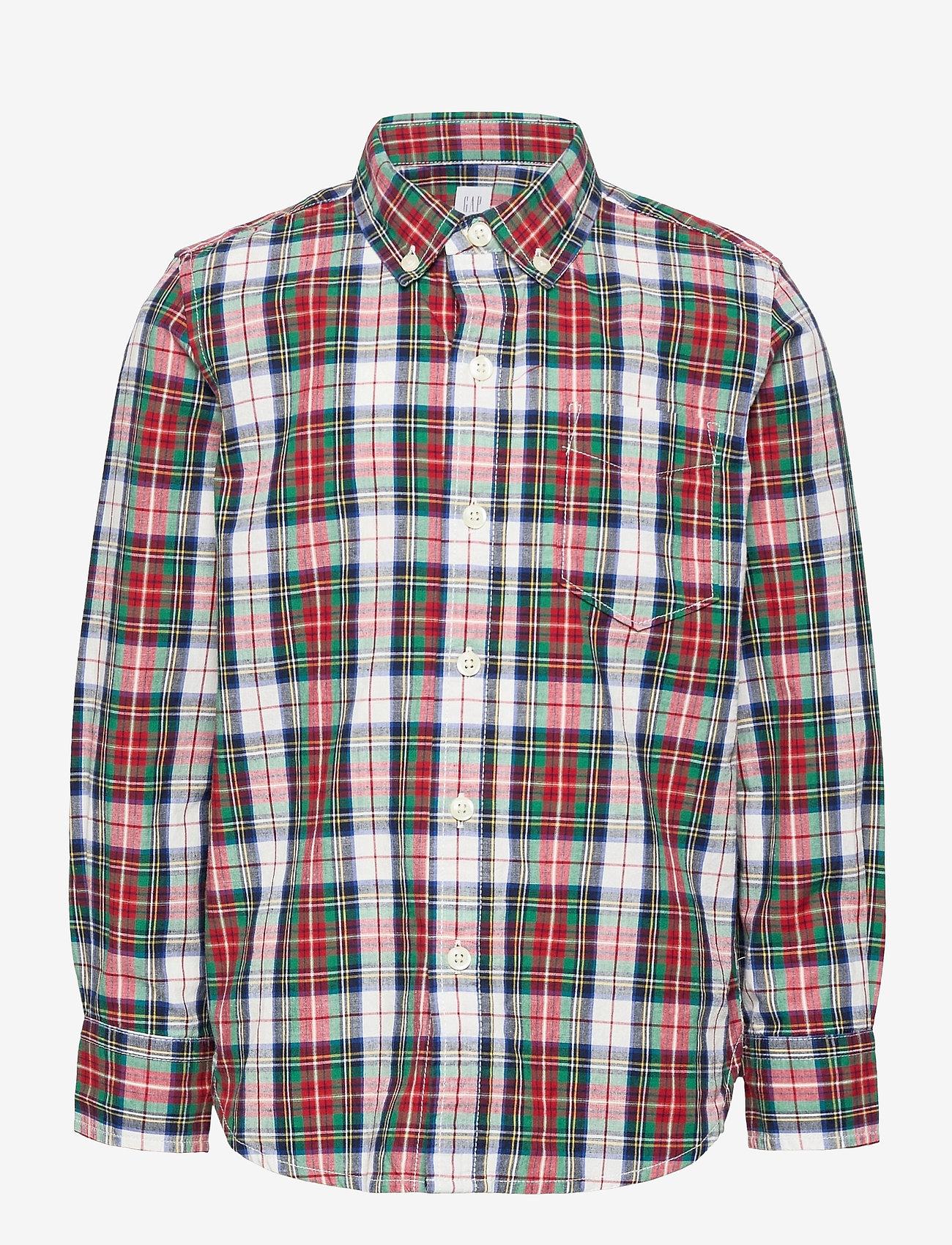GAP - Kids Plaid Shirt - overhemden - red/ white plaid - 0