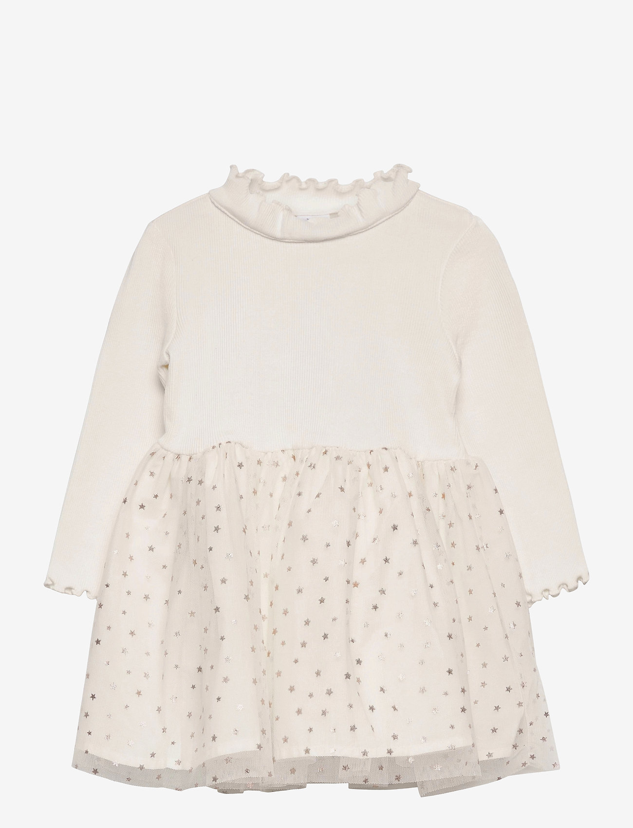 GAP - Toddler Mix-Media Dress - kleider - ivory frost - 0
