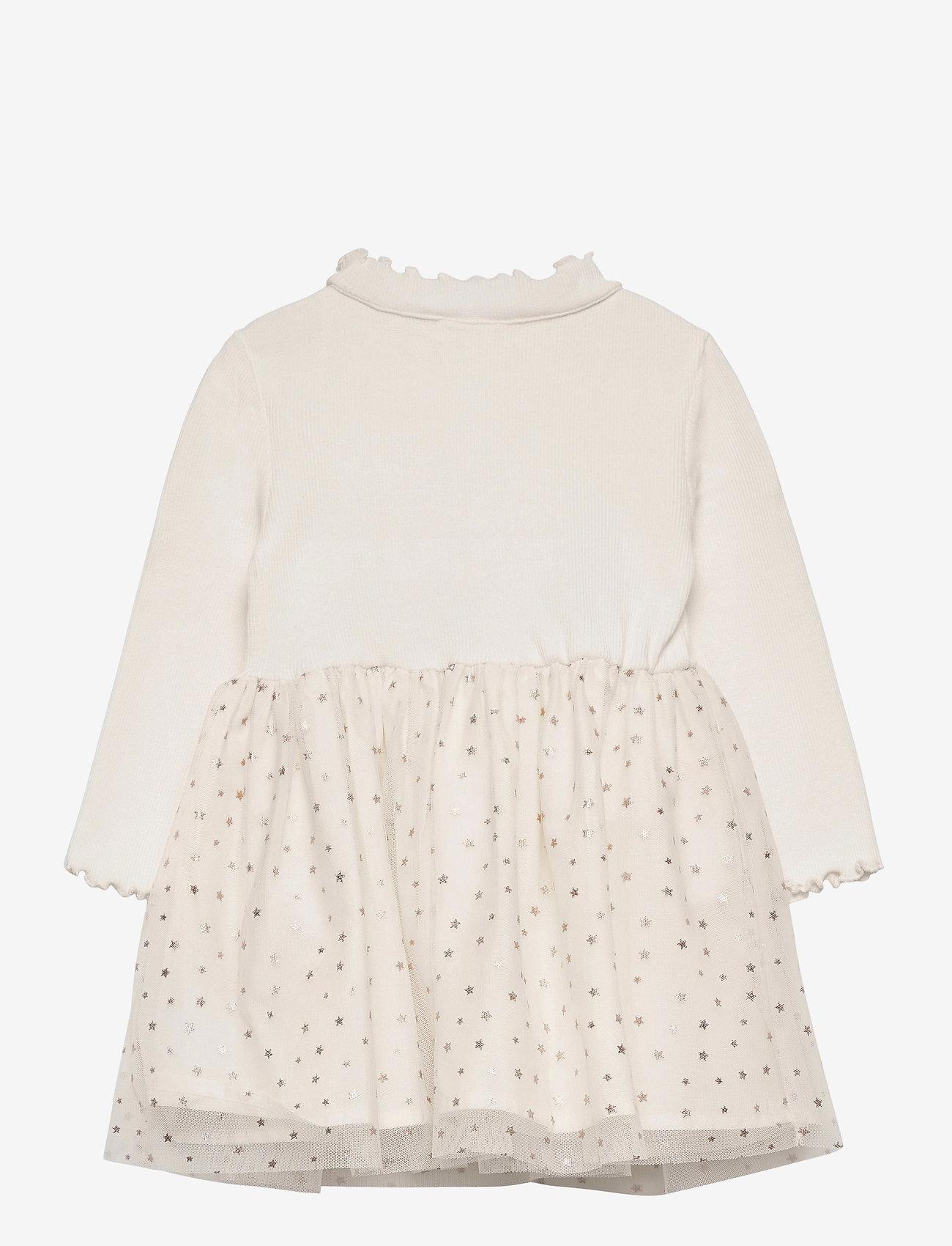 GAP - Toddler Mix-Media Dress - kleider - ivory frost - 1