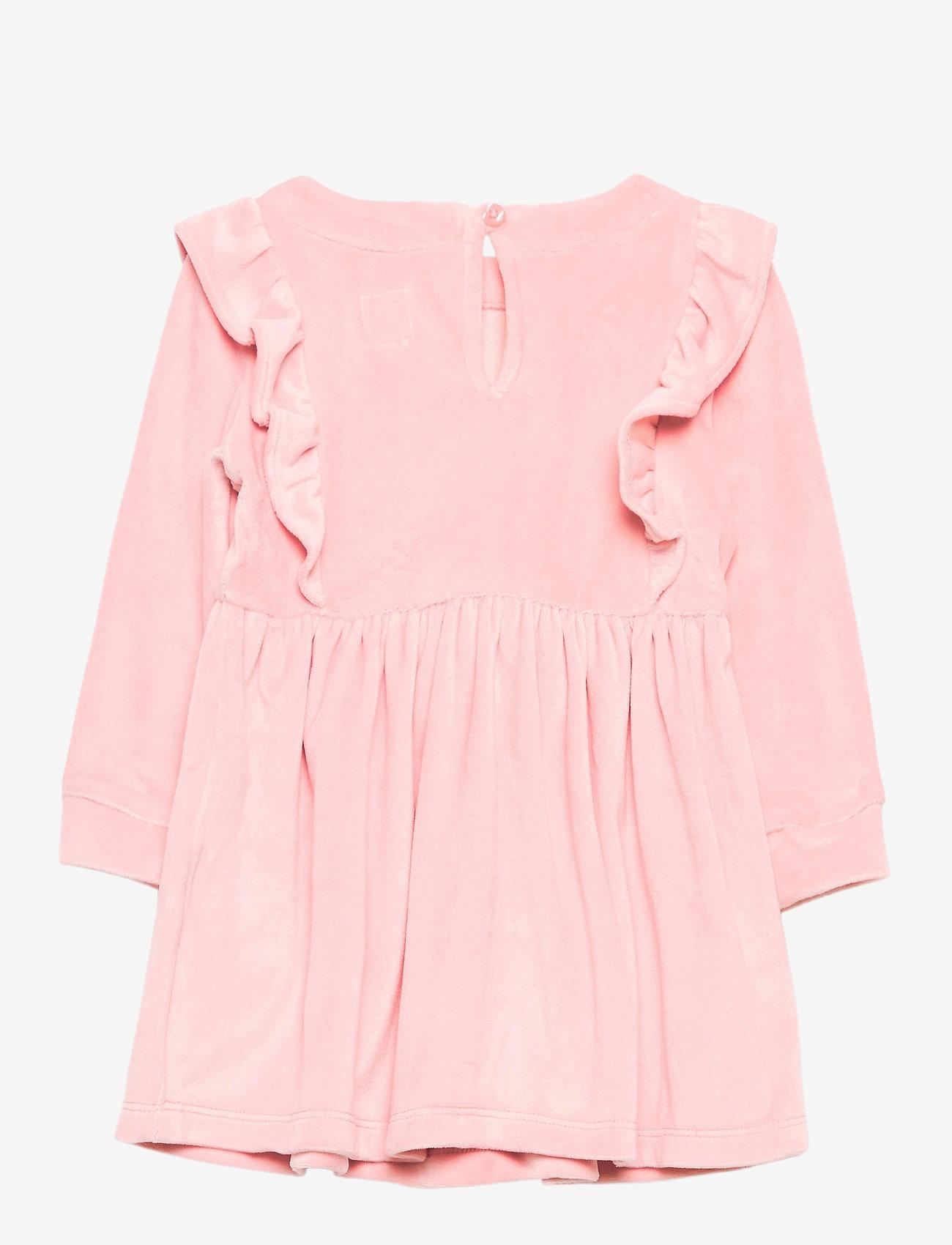 GAP - Toddler Velour Ruffle Skater Dress - kleider - pink standard - 1