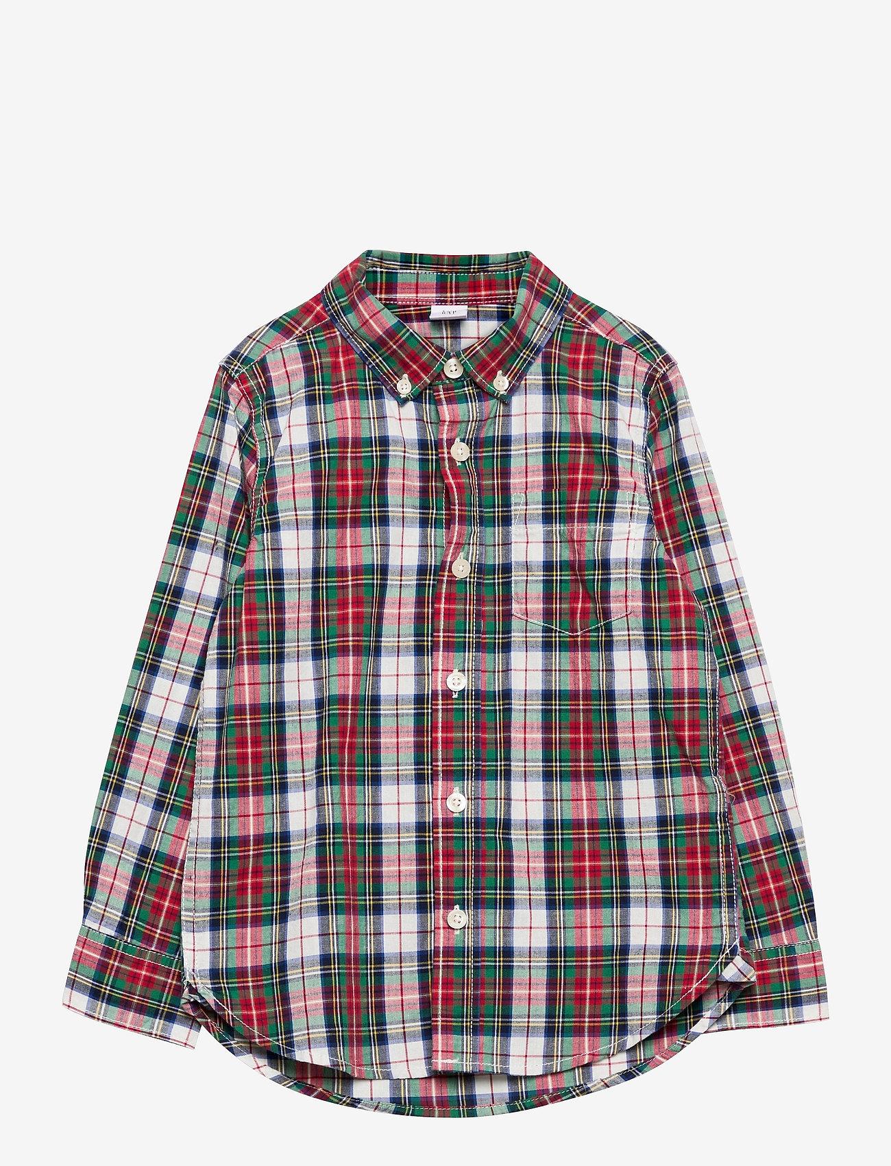 GAP - Toddler Poplin Print Shirt - overhemden - family plaid - 0