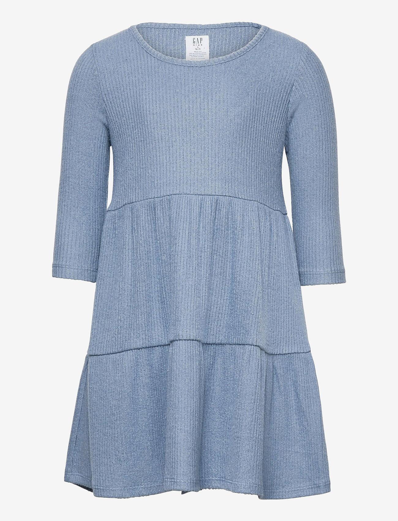 GAP - Kids Softspun Tiered Dress - kleider - bainbridge blue - 0