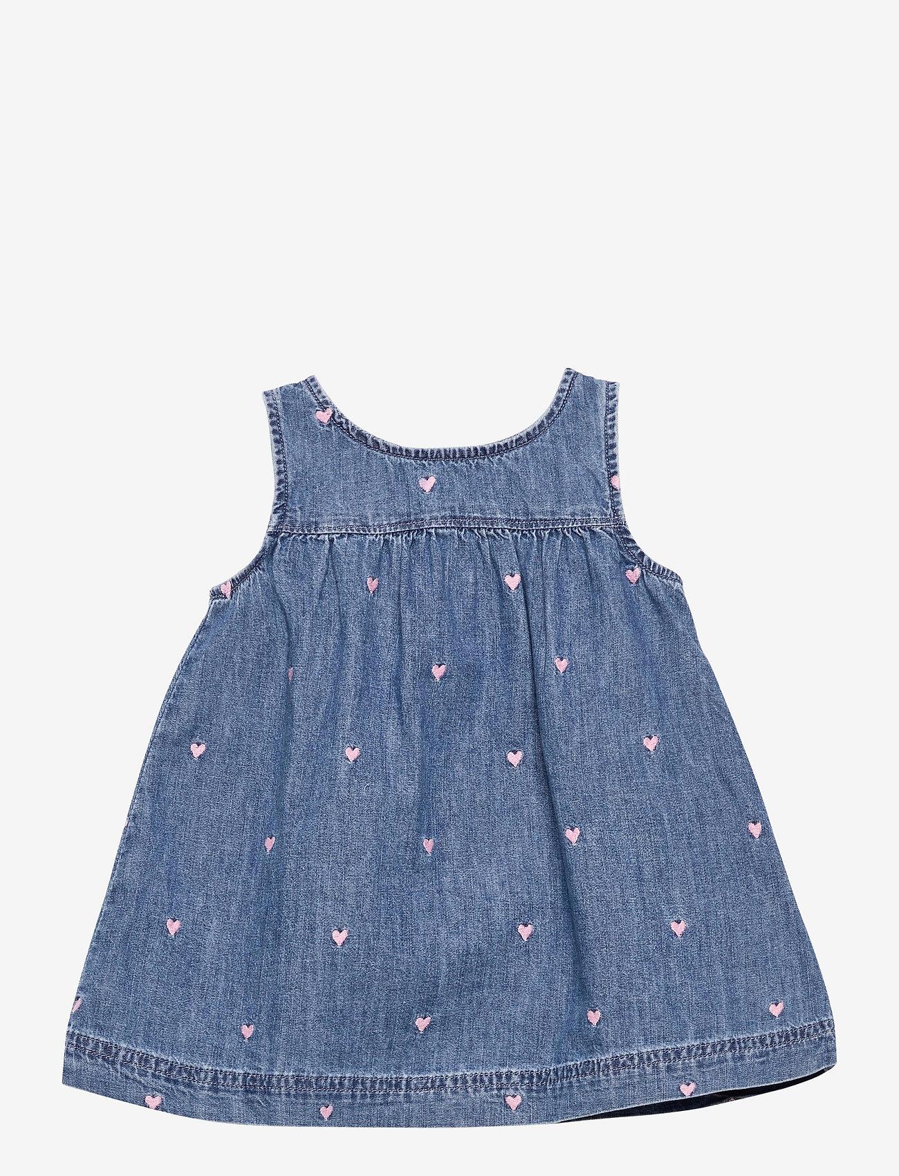 GAP - Baby Denim Jumper Dress - kleider - light wash - 0
