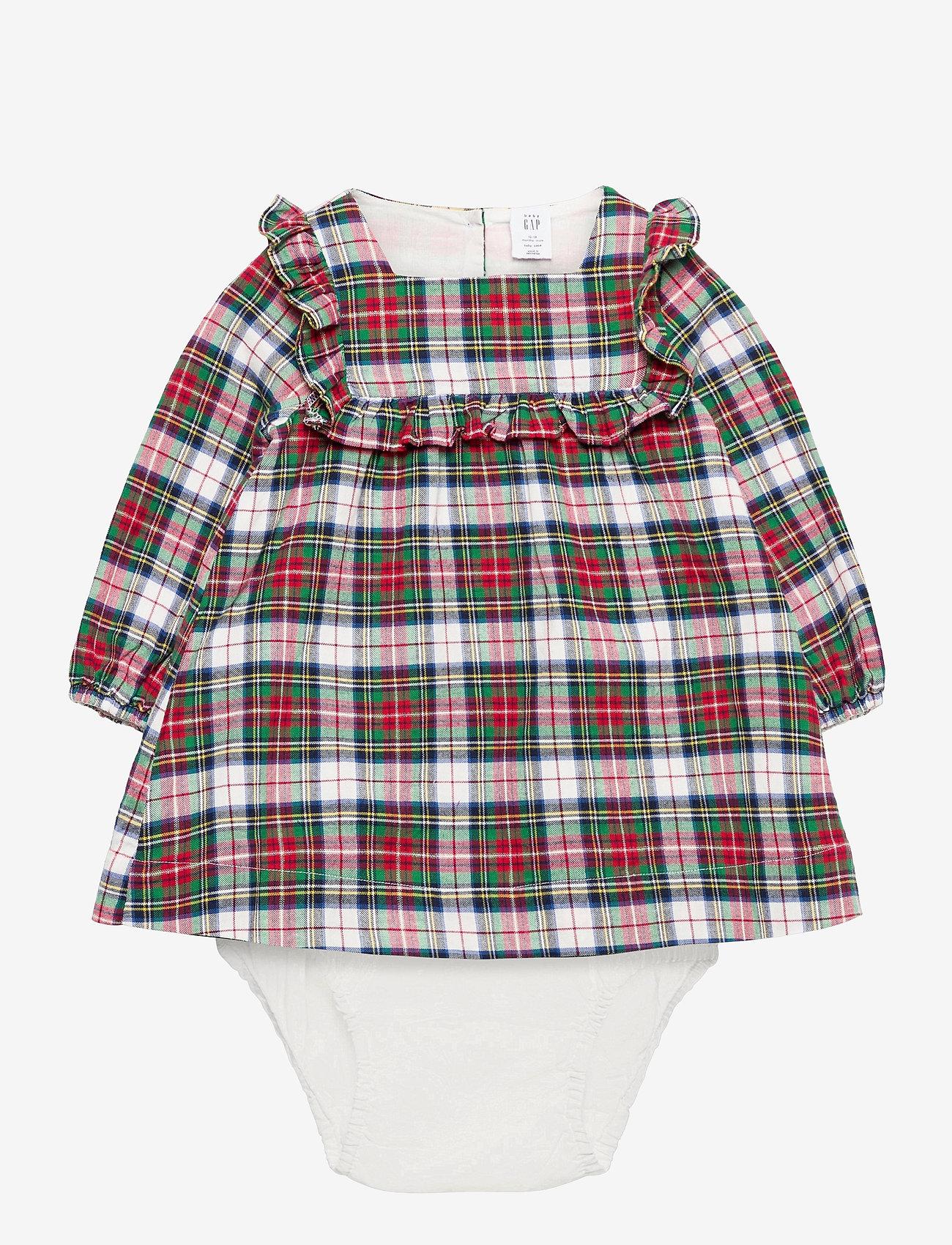 GAP - Baby Plaid Dress - kleider - ivory frost - 0