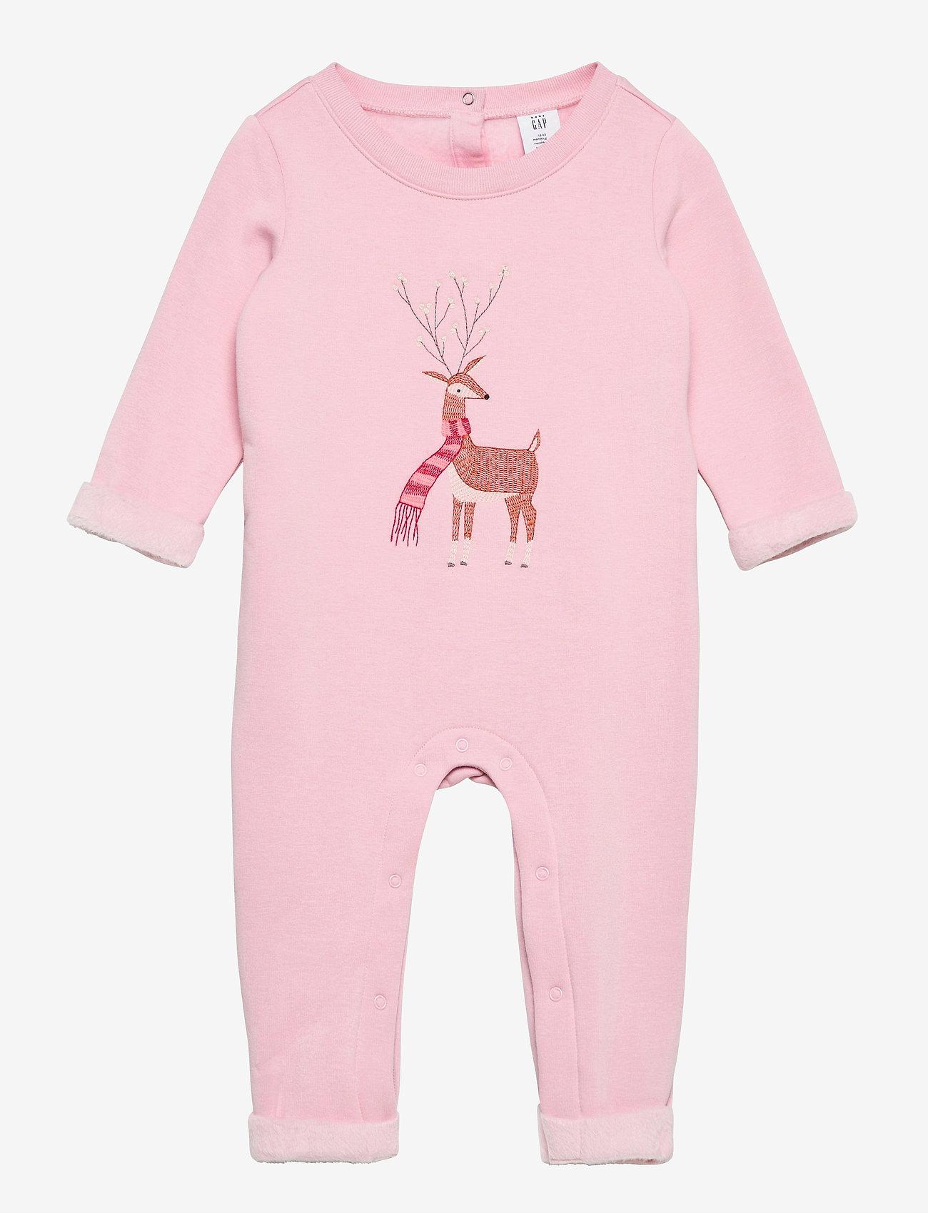GAP - Baby Cozy Reindeer One-Piece - langärmelig - misty rose - 0