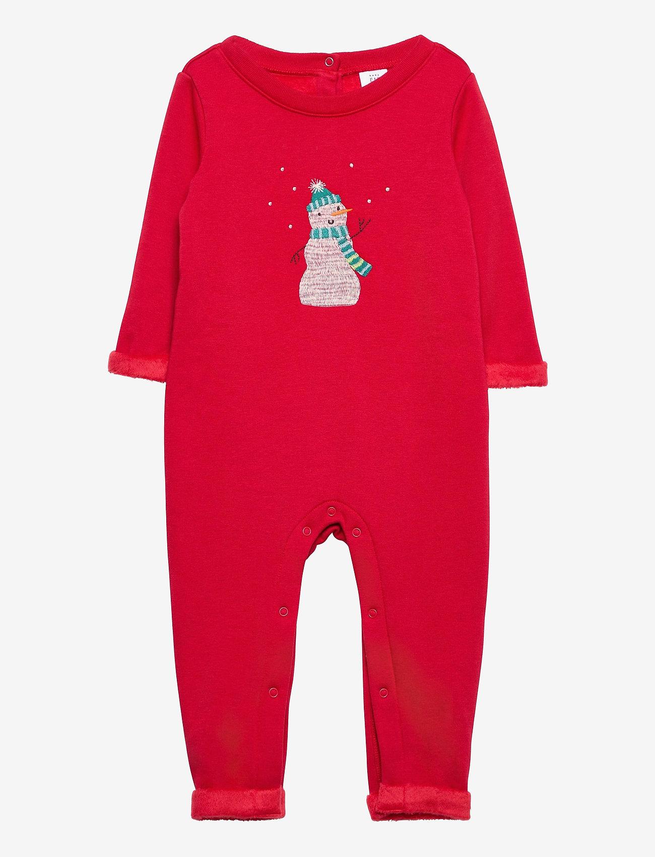 GAP - Baby Cozy Snowman One-Piece - langärmelig - fr modern red - 0