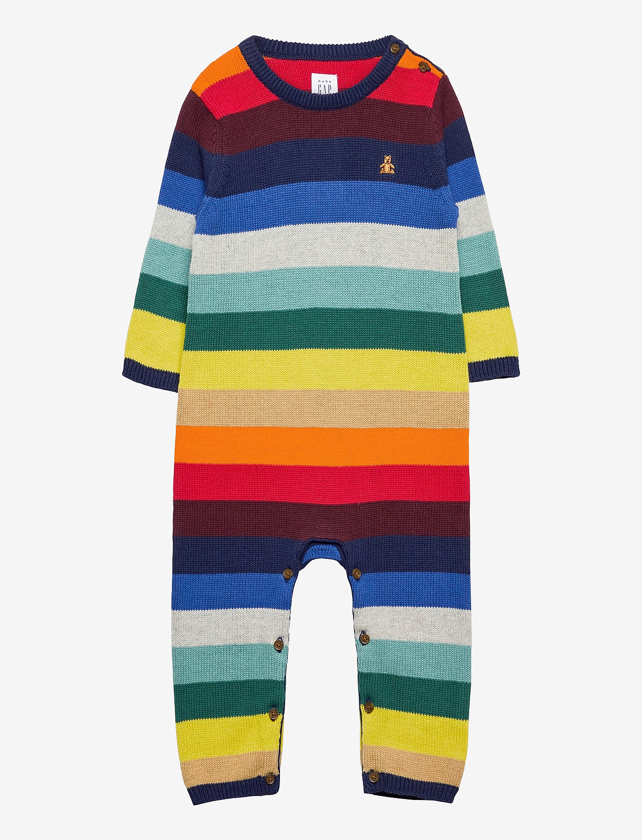 GAP - Baby Happy Stripe One-Piece - langärmelig - elysian blue - 0