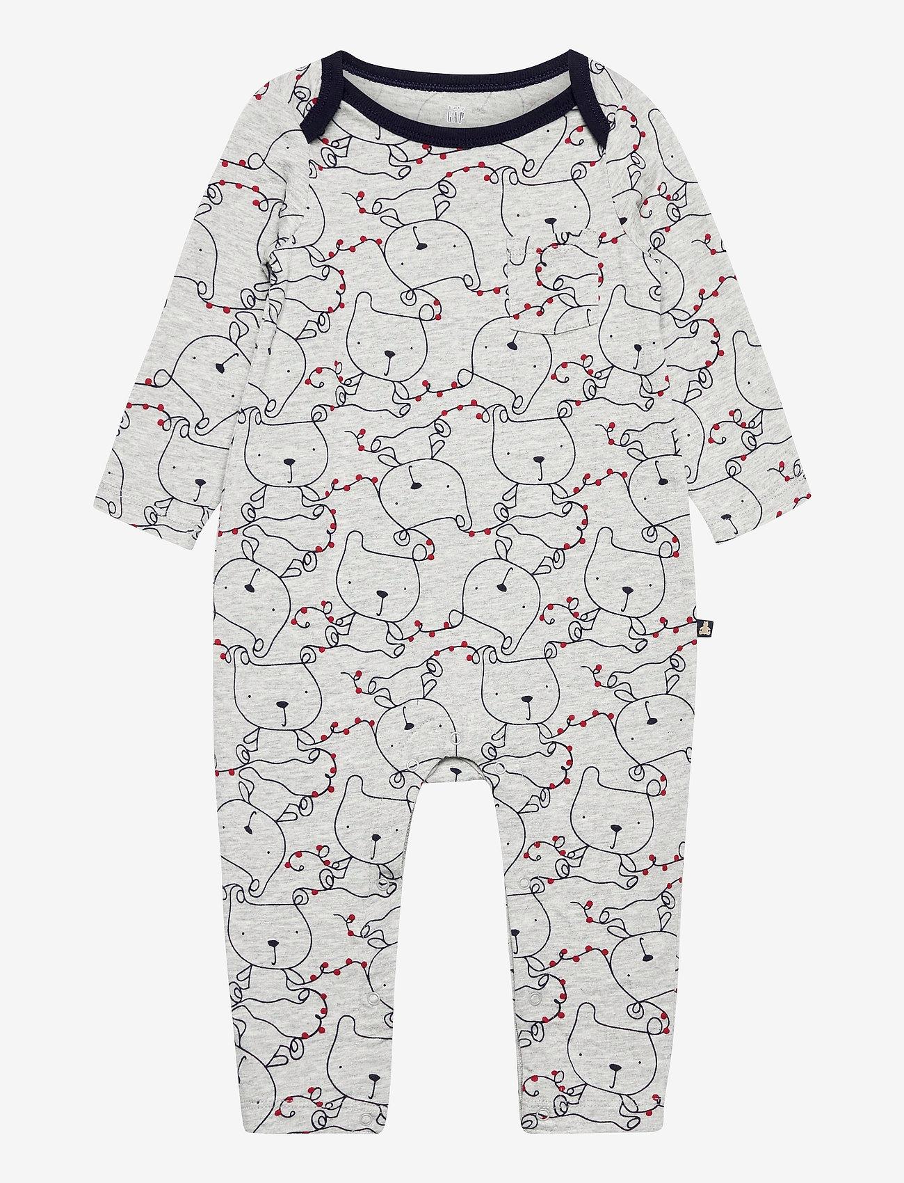 GAP - Baby Footless One-Piece - langärmelig - light heather grey b08 - 0