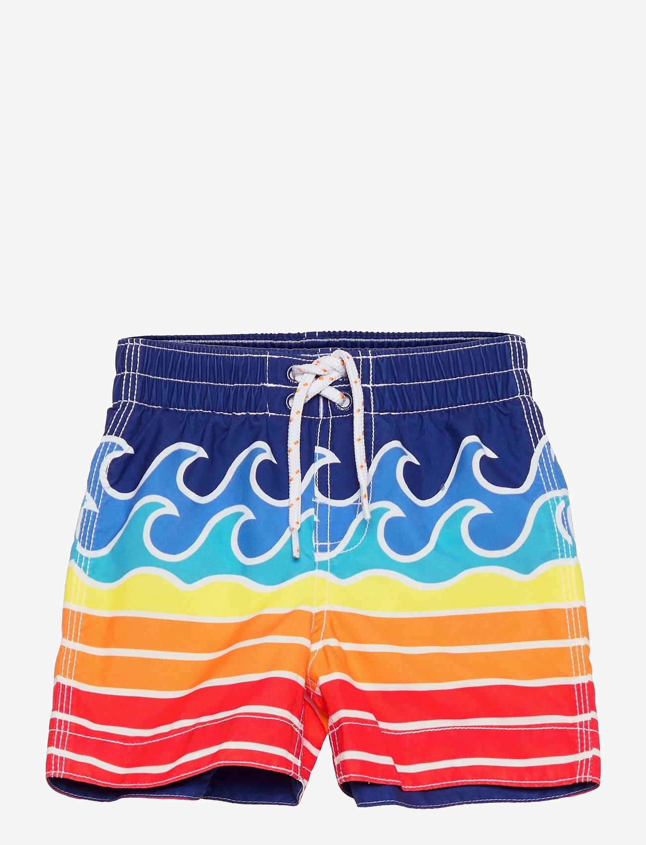 GAP - Toddler Wave Graphic Swim Trunks - shorts de bain - waves - 0