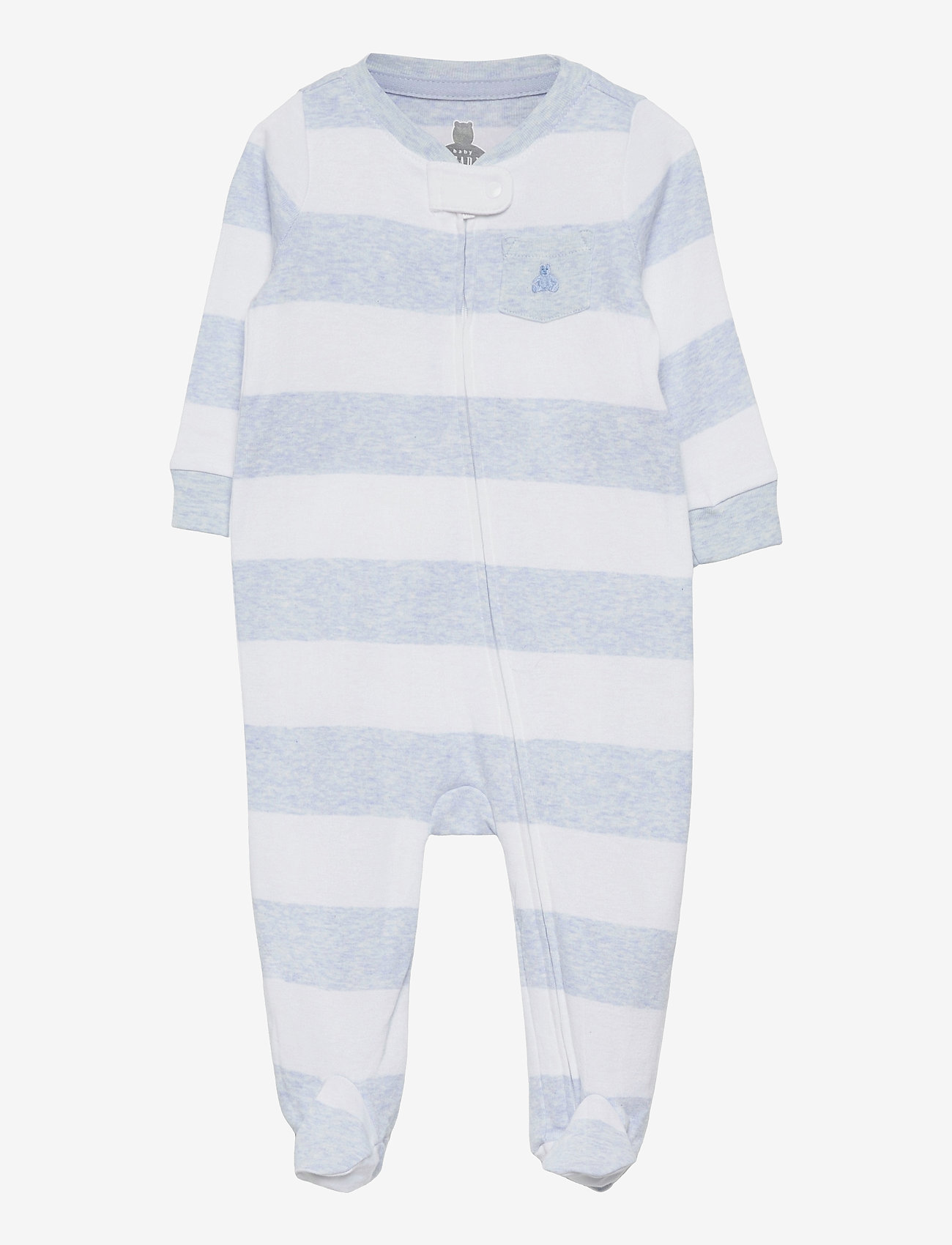 GAP - Baby Stripe One-Piece - langärmelig - blue heather - 0