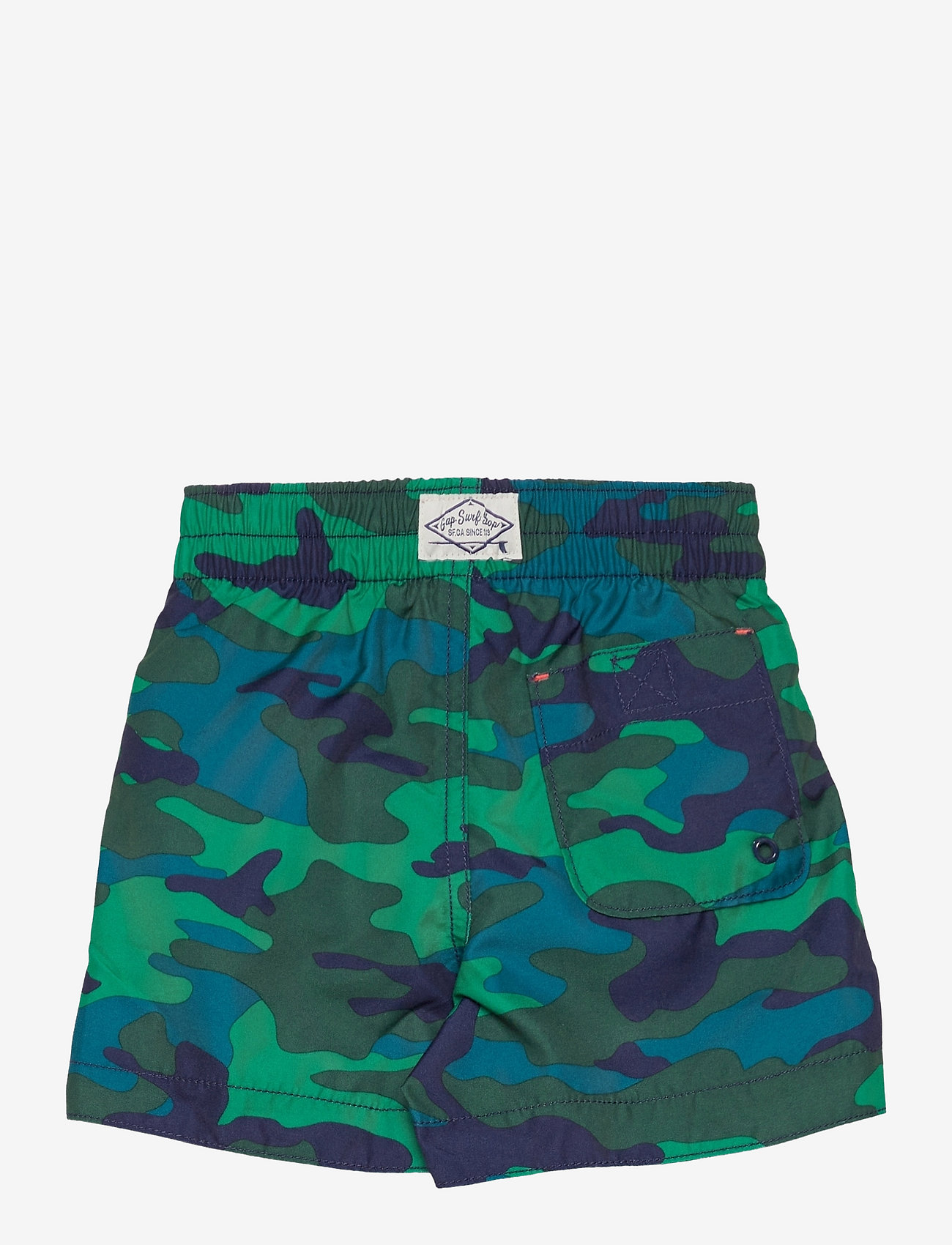 GAP - Toddler 100% Recycled Polyester Graphic Swim Trunks - badehosen - green camo - 1