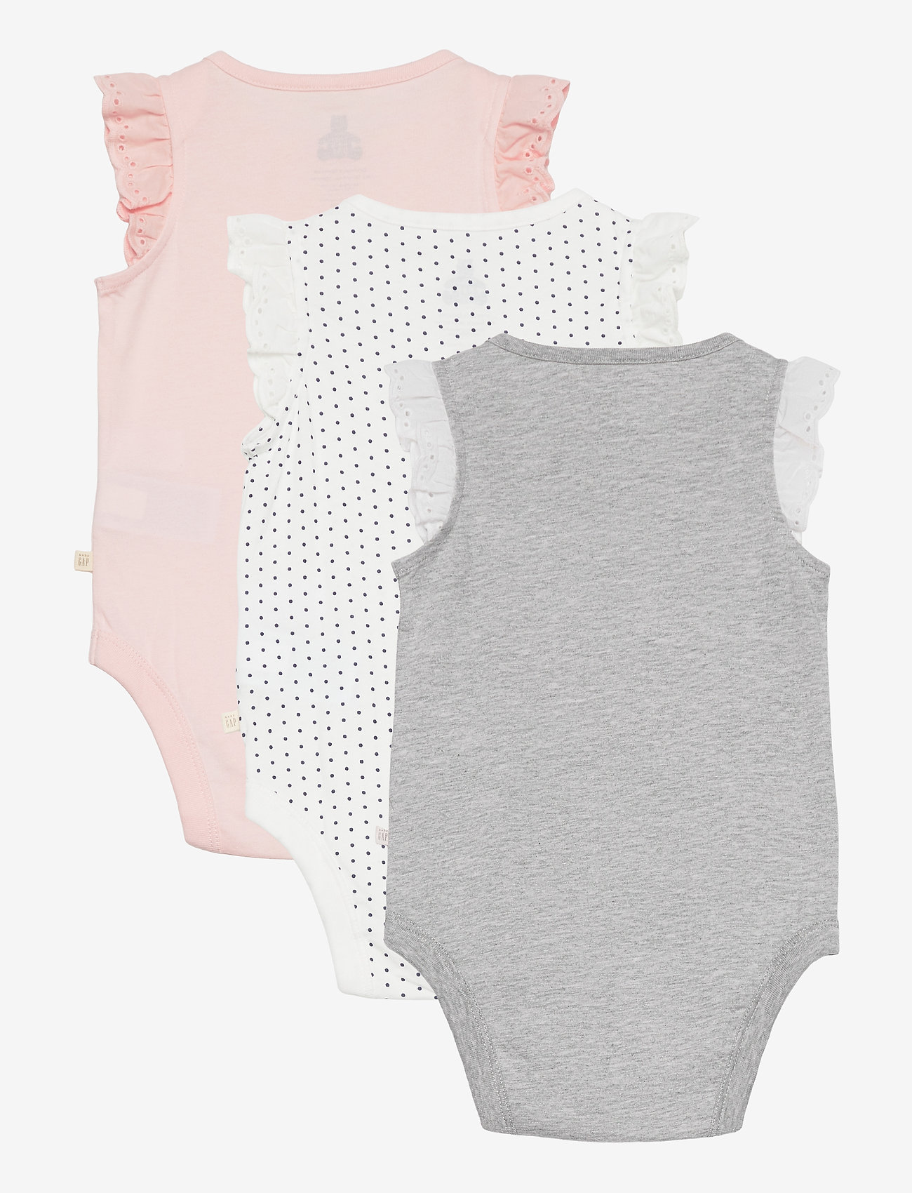 GAP - Baby 100% Organic Cotton Mix and Match Bodysuit (3-Pack) - korte mouwen - multi - 1