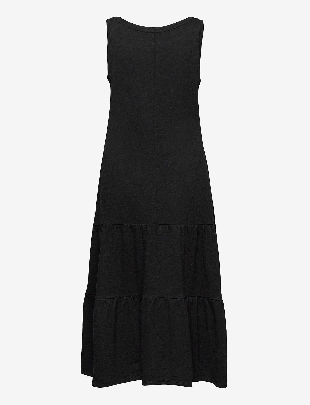 GAP - Sleeveless Tiered Maxi Dress - sommerkjoler - true black v2 2 - 1