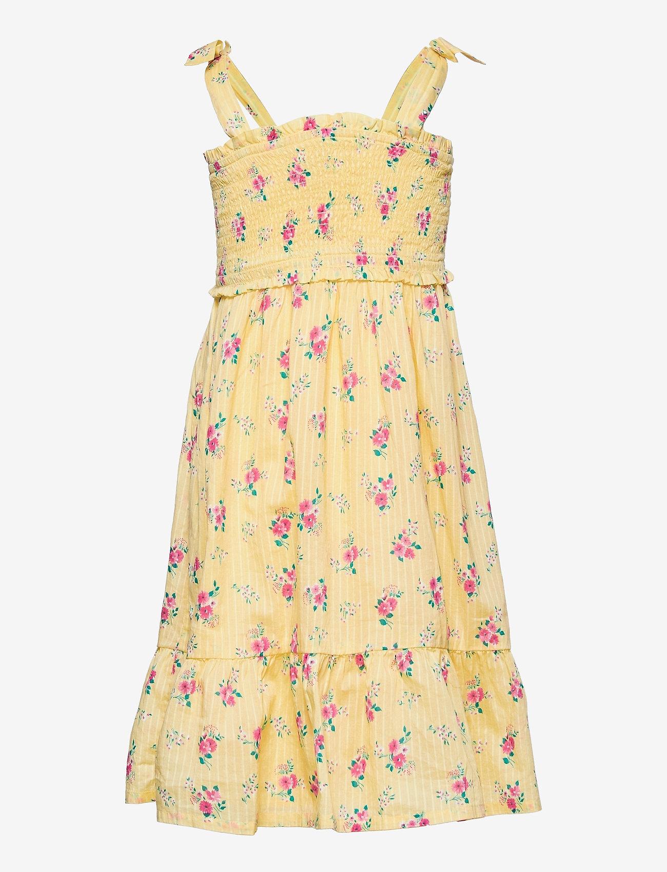 GAP - Kids Smocked Floral Dress - kjoler & nederdele - yellow flowers - 1