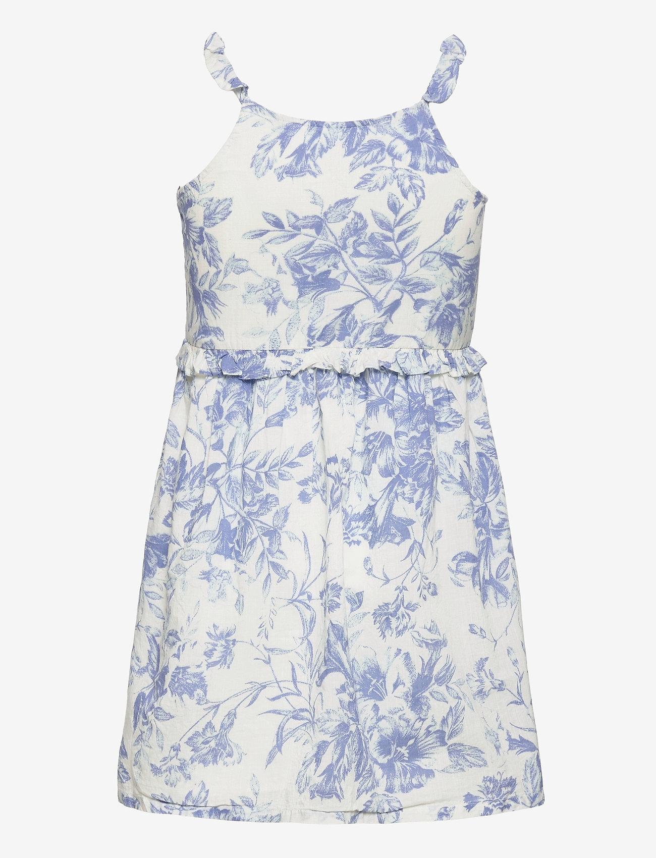 GAP - Kids Wrap Ruffle Dress - kjoler & nederdele - blue floral - 1
