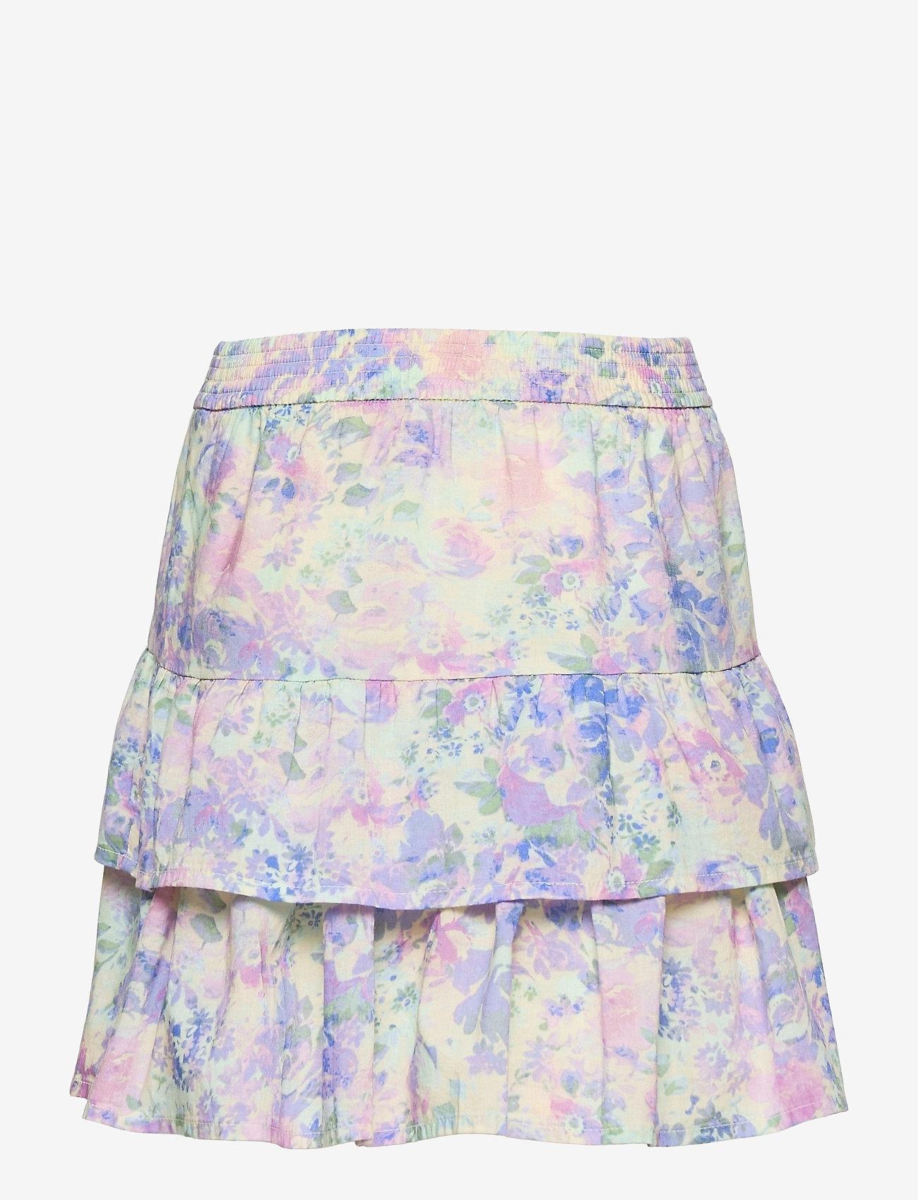 GAP - Kids Tiered Watercolor Skirt - purple print - 1