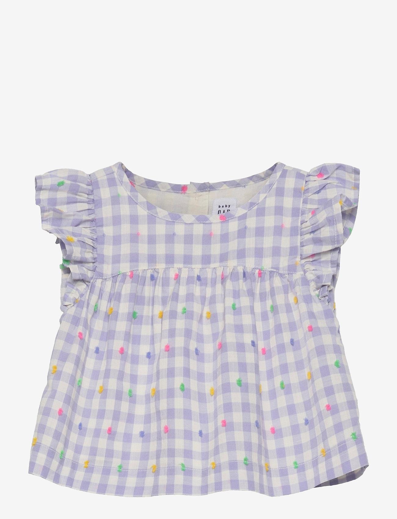 GAP - Toddler Gingham Shirt - bluser & tunikaer - light blue gingham - 0