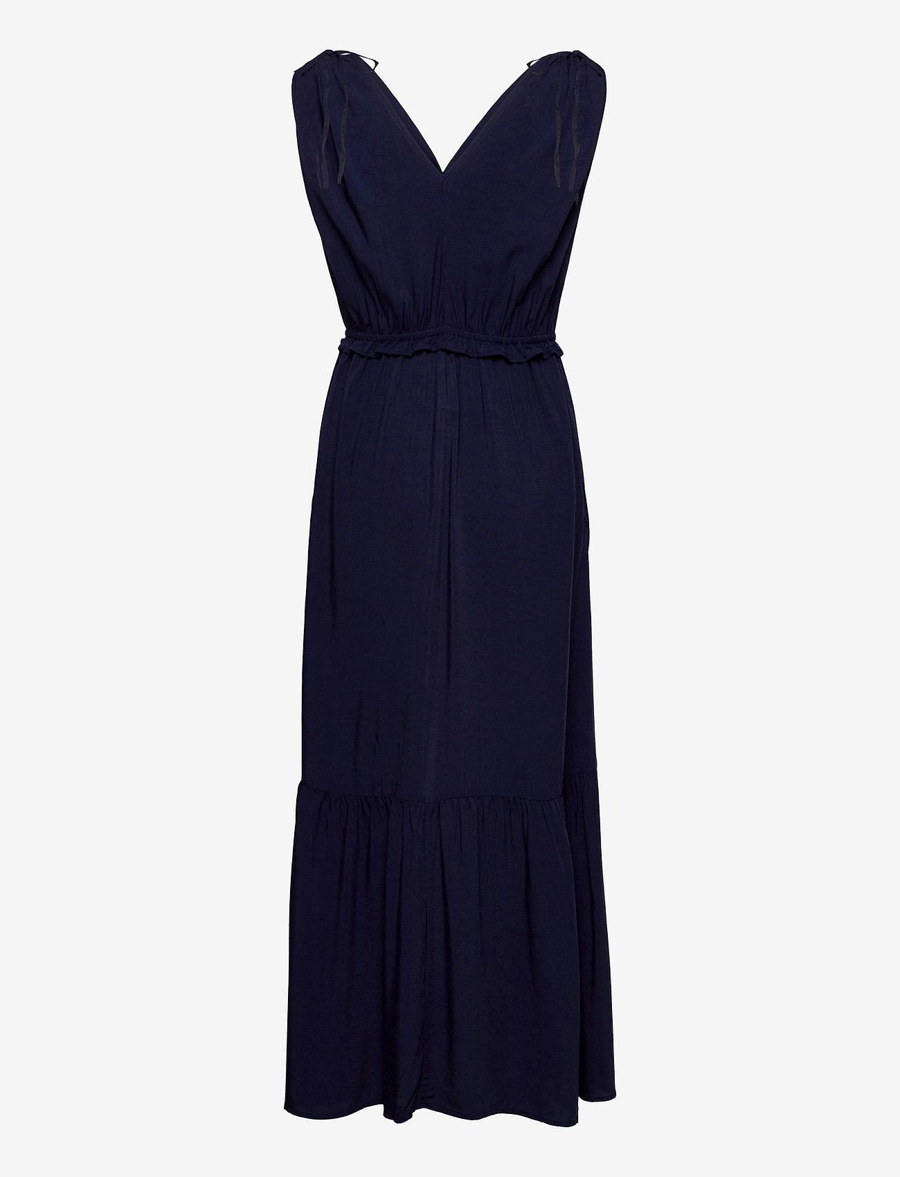 GAP - Ruched Shoulder Maxi Dress - robes de jour - navy uniform - 1