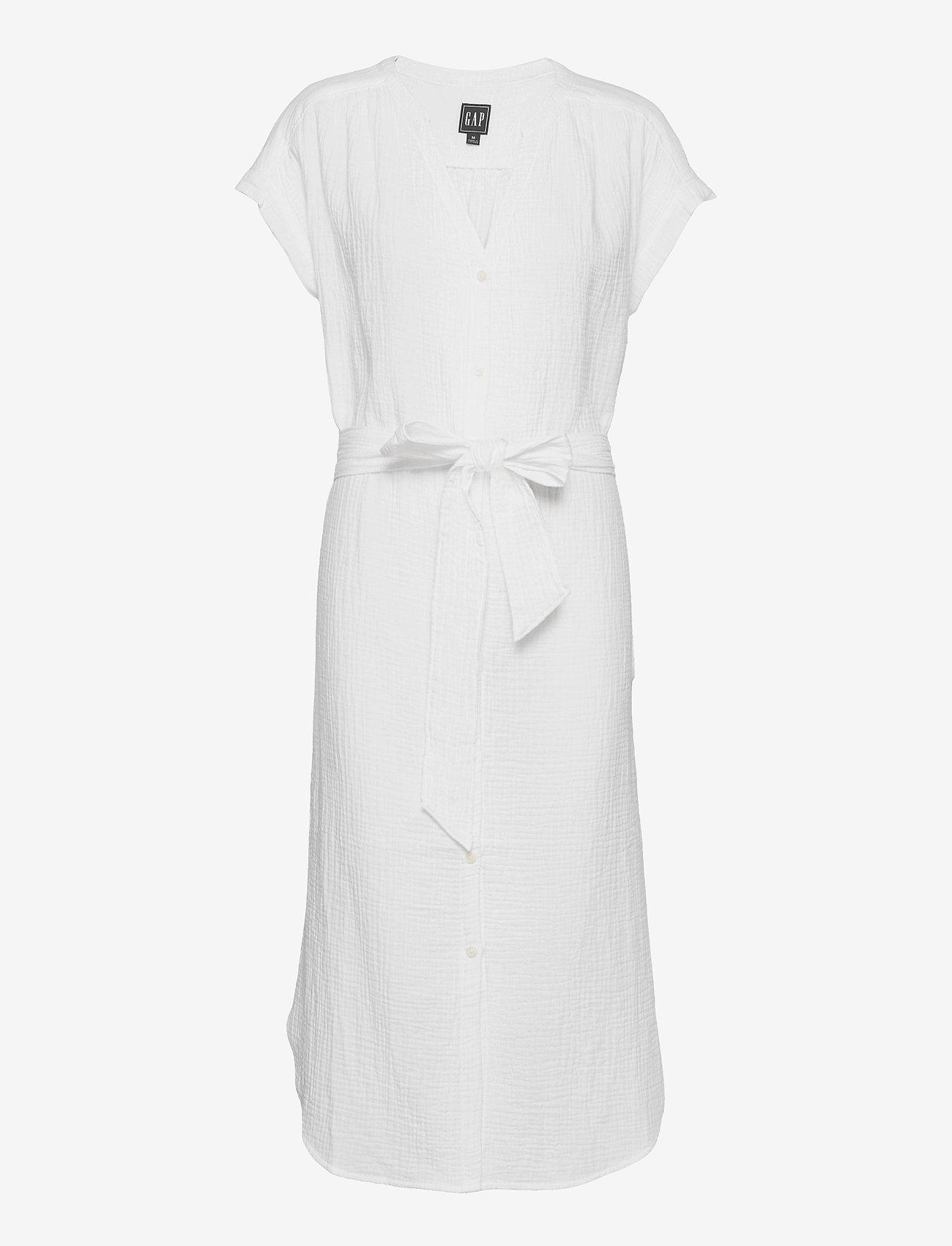 GAP - Gauze Midi Shirtdress - robes d'été - fresh white - 0