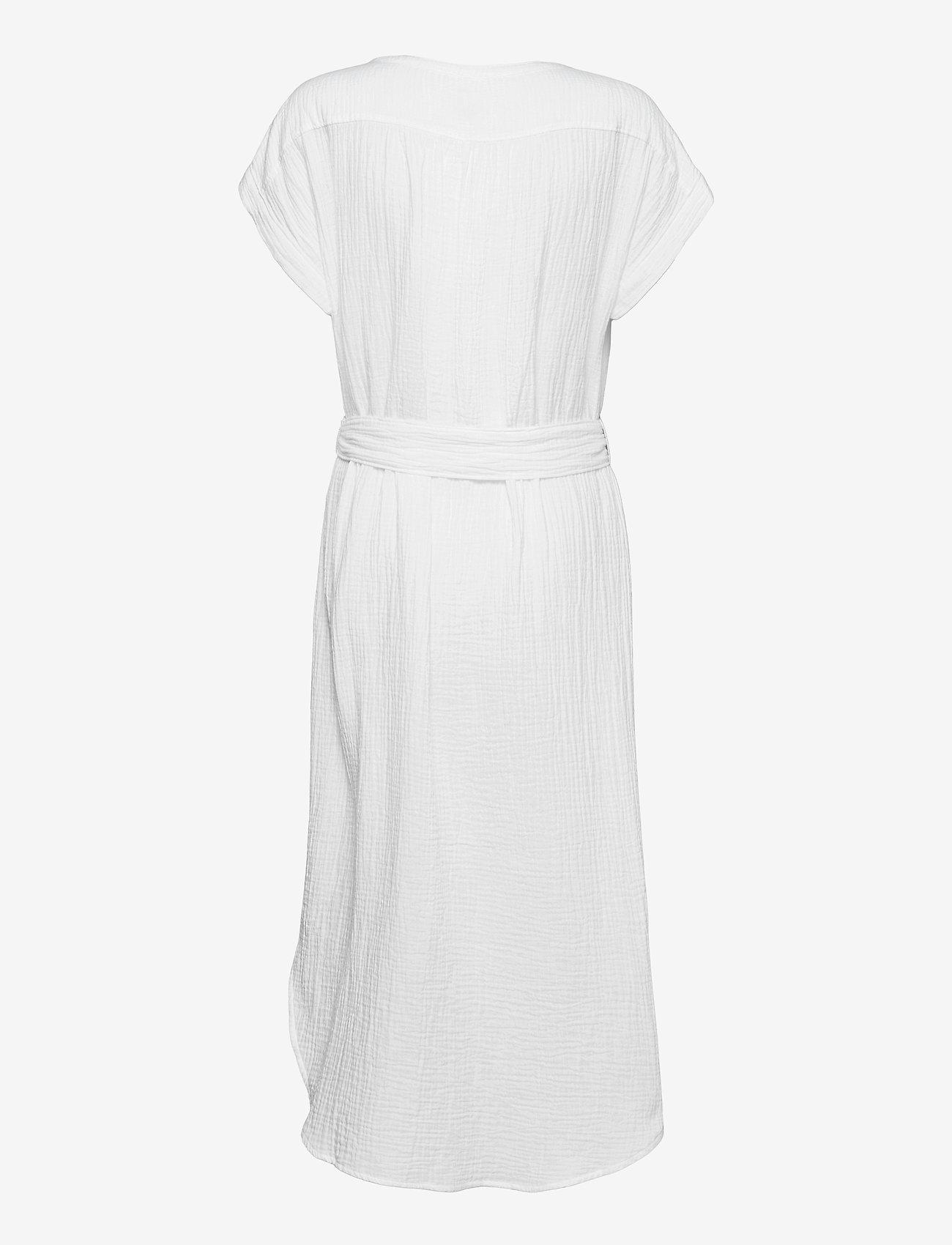 GAP - Gauze Midi Shirtdress - robes d'été - fresh white - 1