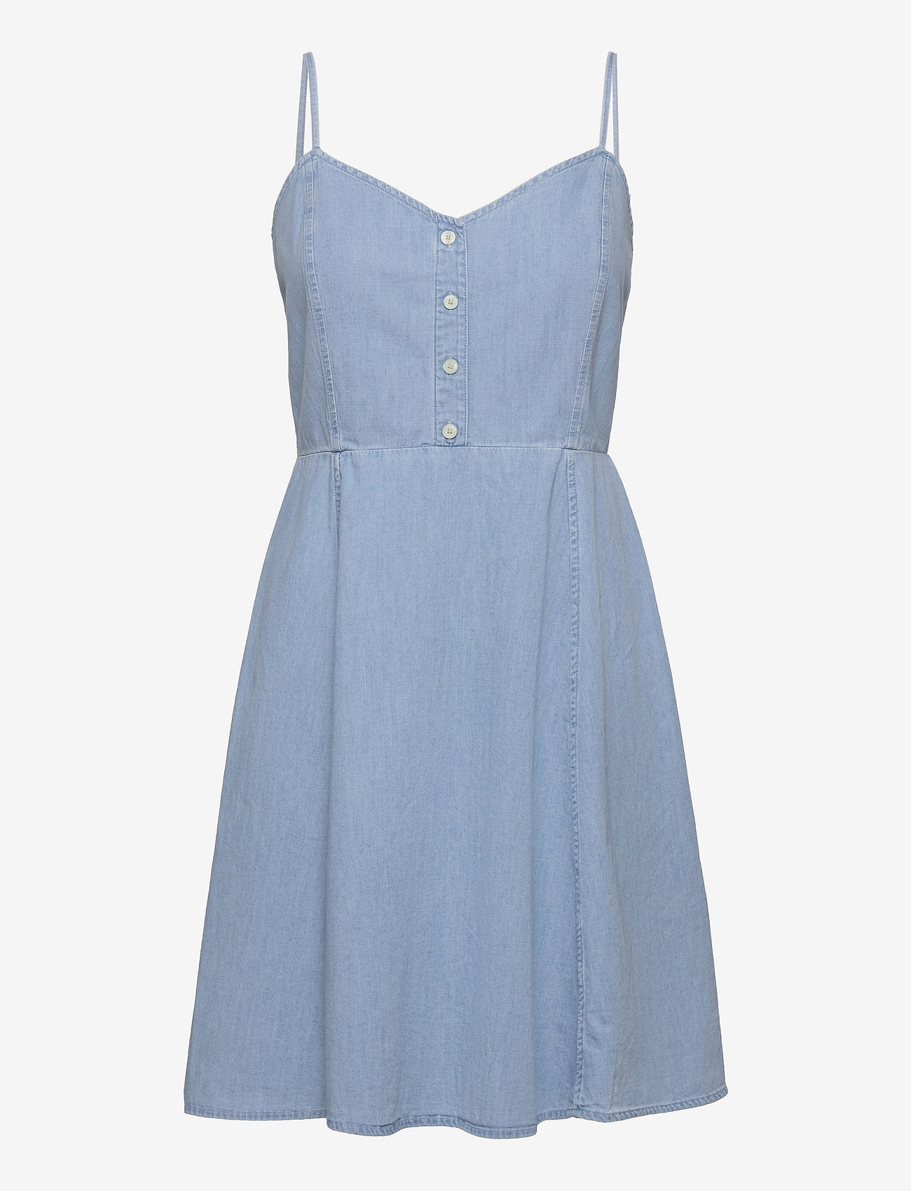 GAP - Fit & Flare Cami Denim Dress - robes de jour - light wash - 0
