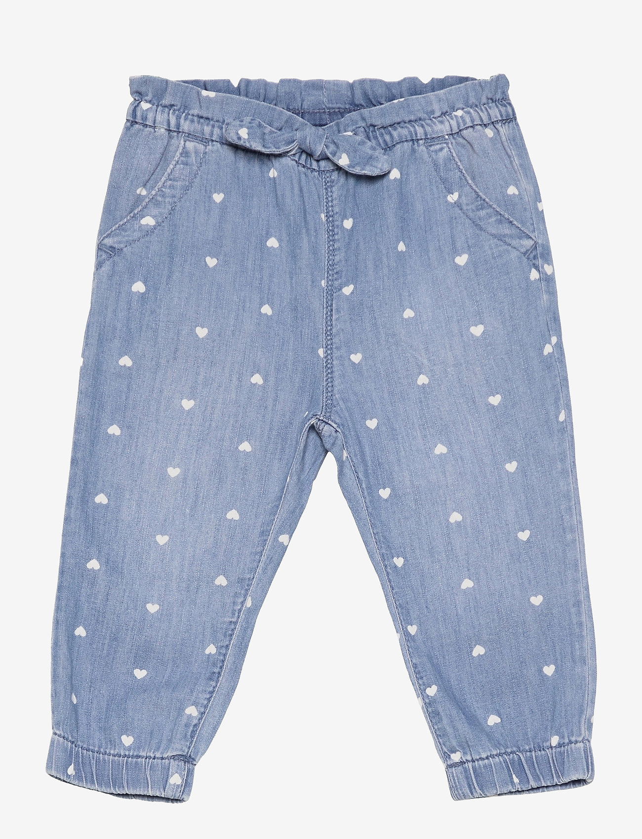 GAP - Toddler Denim Heart Print Pull-On Joggers with Washwell&#153 - trousers - hearts - 0