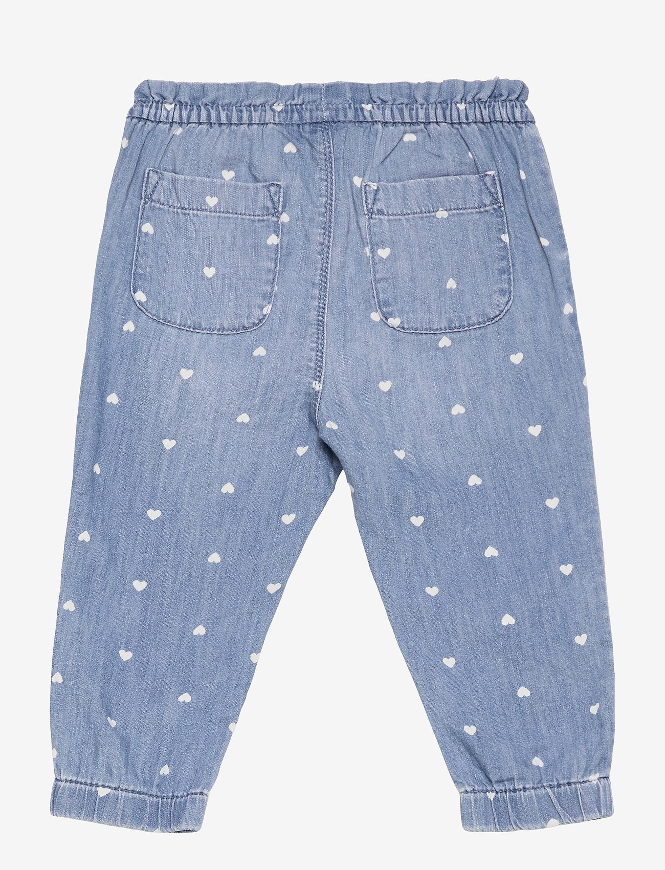 GAP - Toddler Denim Heart Print Pull-On Joggers with Washwell&#153 - trousers - hearts - 1