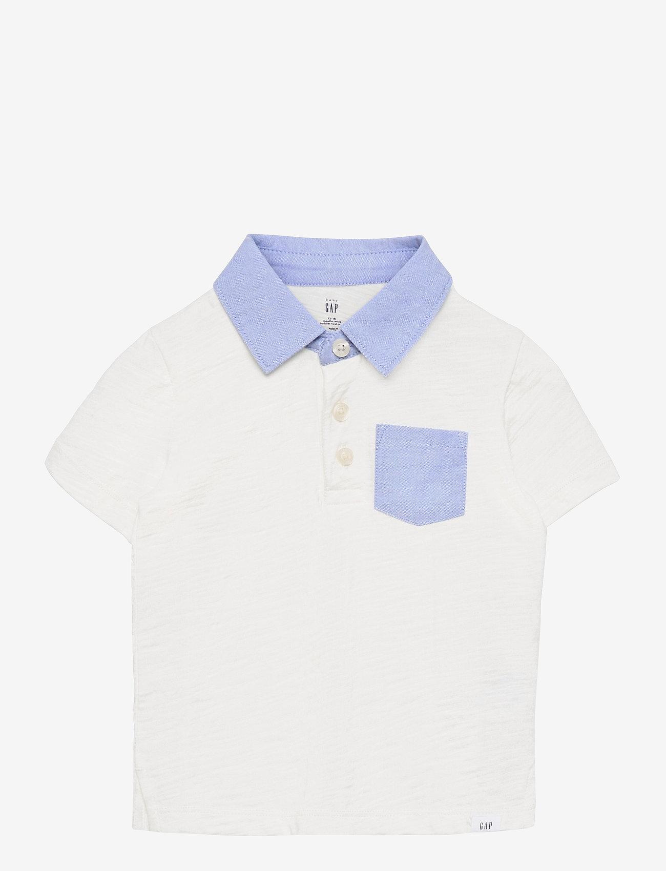 GAP - Toddler Polo Shirt - shirts - new off white - 0