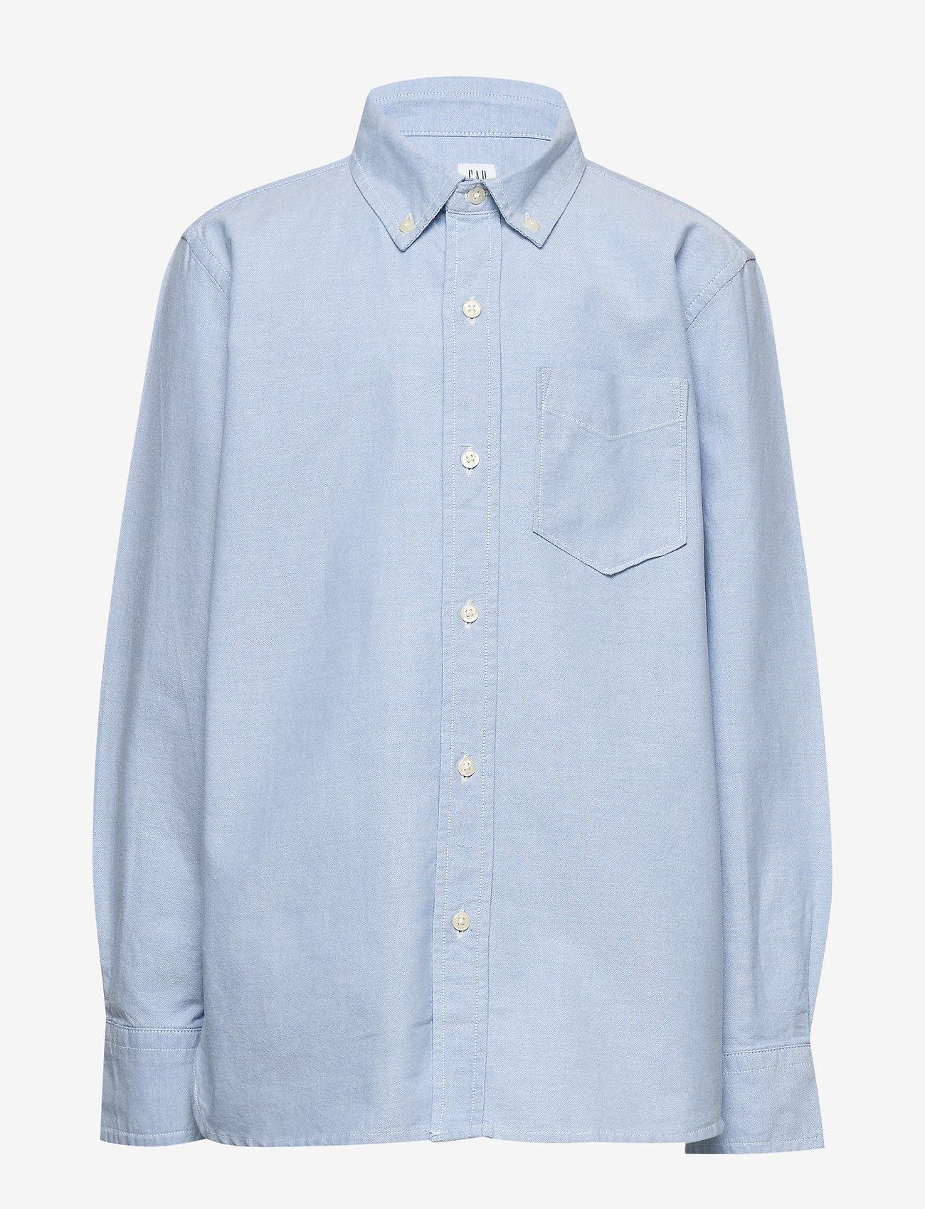 GAP - Kids Uniform Oxford Long Sleeve Shirt - shirts - oxford blue - 0