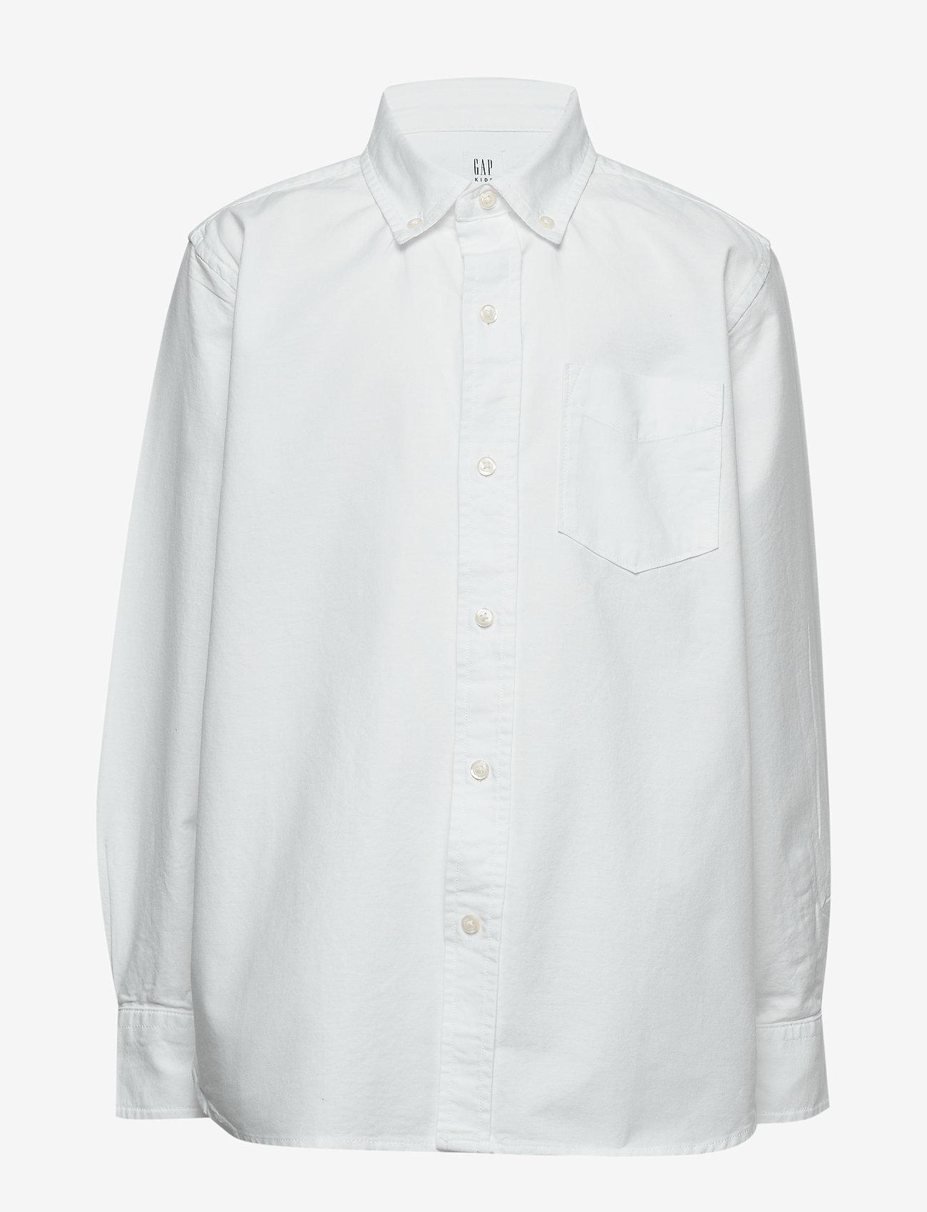 GAP - Kids Uniform Oxford Long Sleeve Shirt - shirts - white 2 - 0