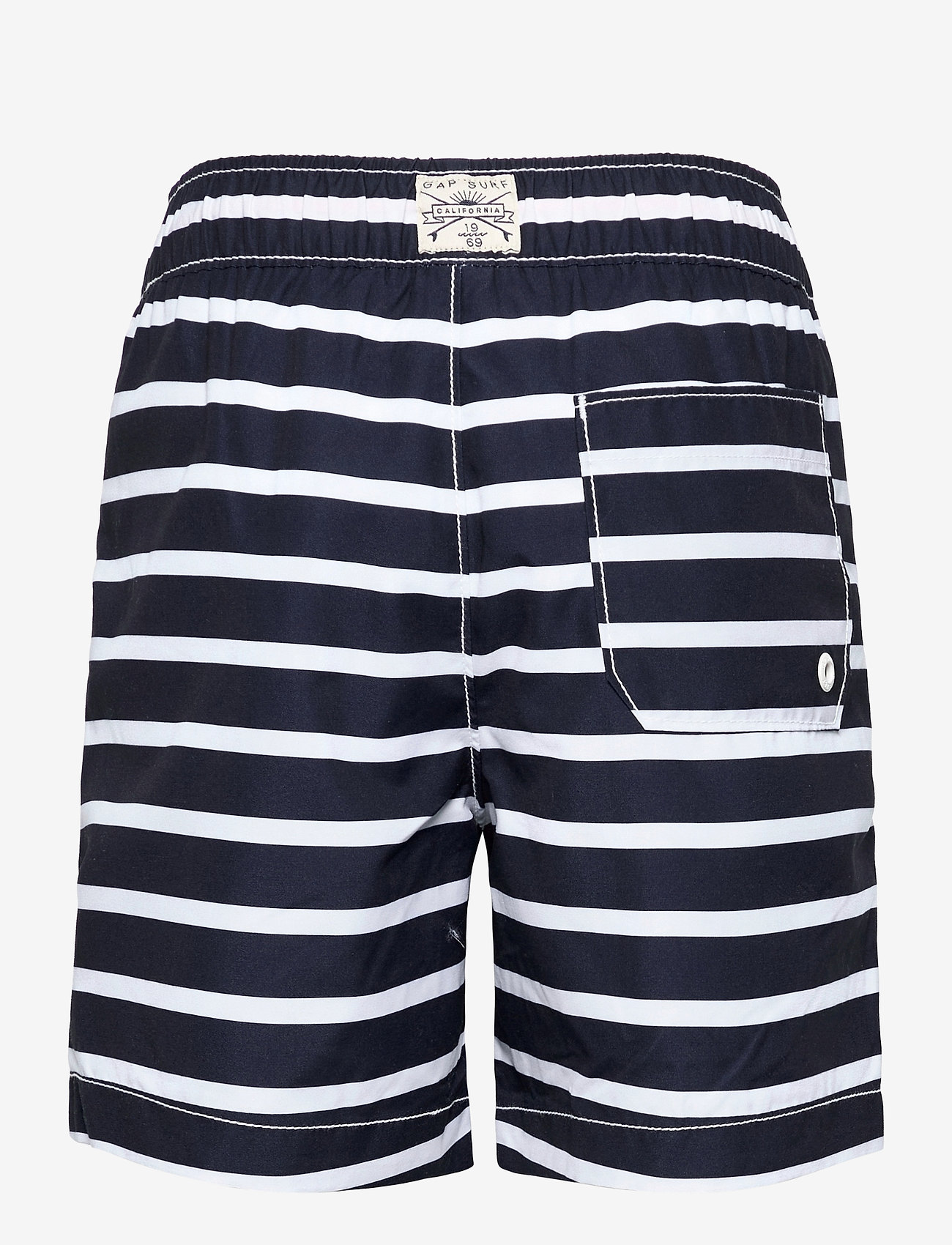 GAP - Kids 100% Recycled Polyester Stripe Swim Trunks - badehosen - navy stripe - 1