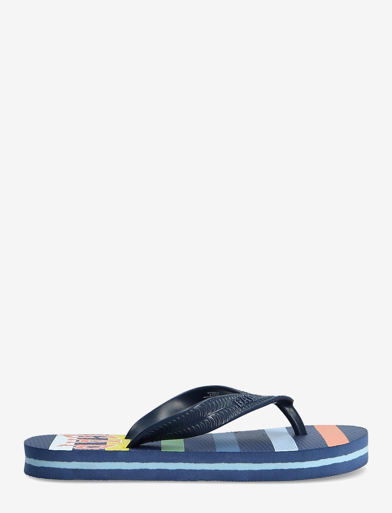 GAP - Kids Stripe Gap Logo Flip Flops - flip-flops & badeschuhe - navy multi stripe v2 - 1