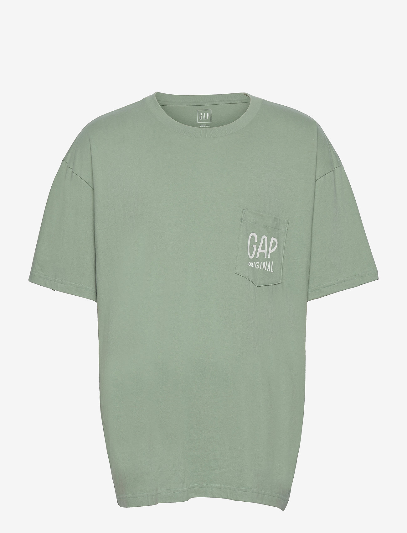 GAP - Gap Logo Pocket T-Shirt - podstawowe koszulki - granite green 16-5907 - 0