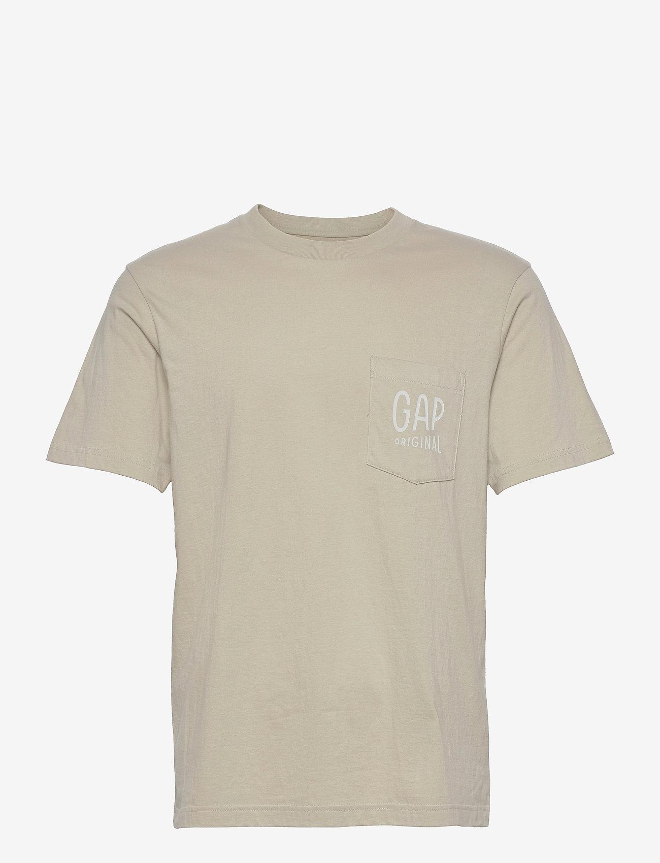 GAP - Gap Logo Pocket T-Shirt - basic t-shirts - moonstone hthr b2367 - 0