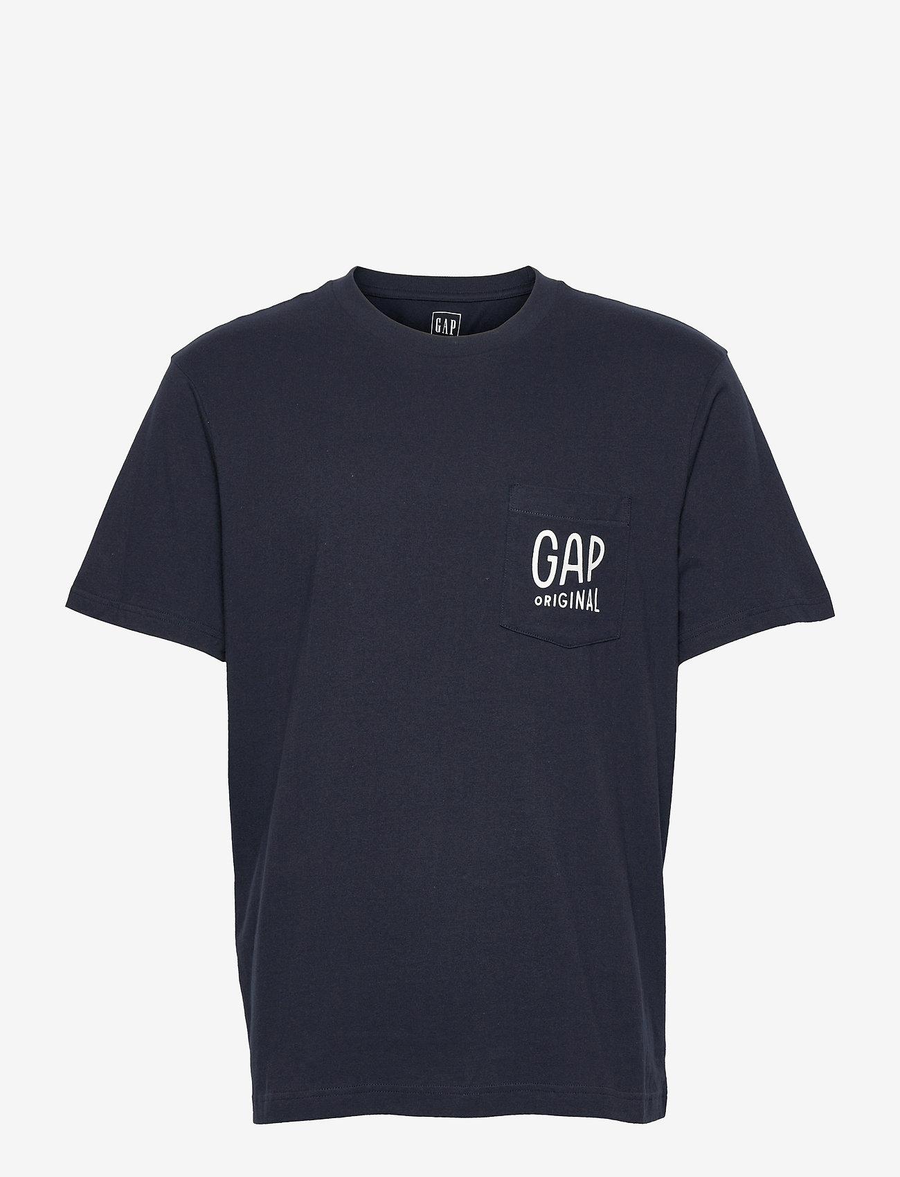 GAP - Gap Logo Pocket T-Shirt - podstawowe koszulki - new navy - 0