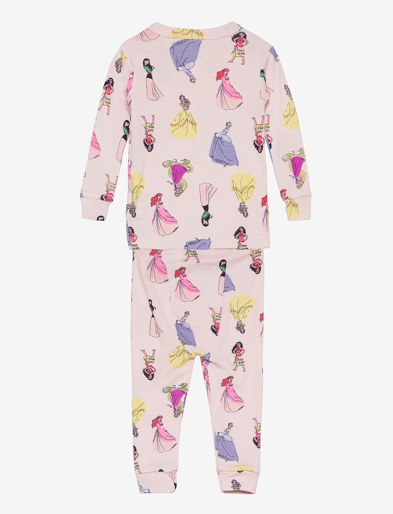 GAP - babyGap   Disney Princess 100% Organic Cotton PJ Set - sæt - spring pink - 1