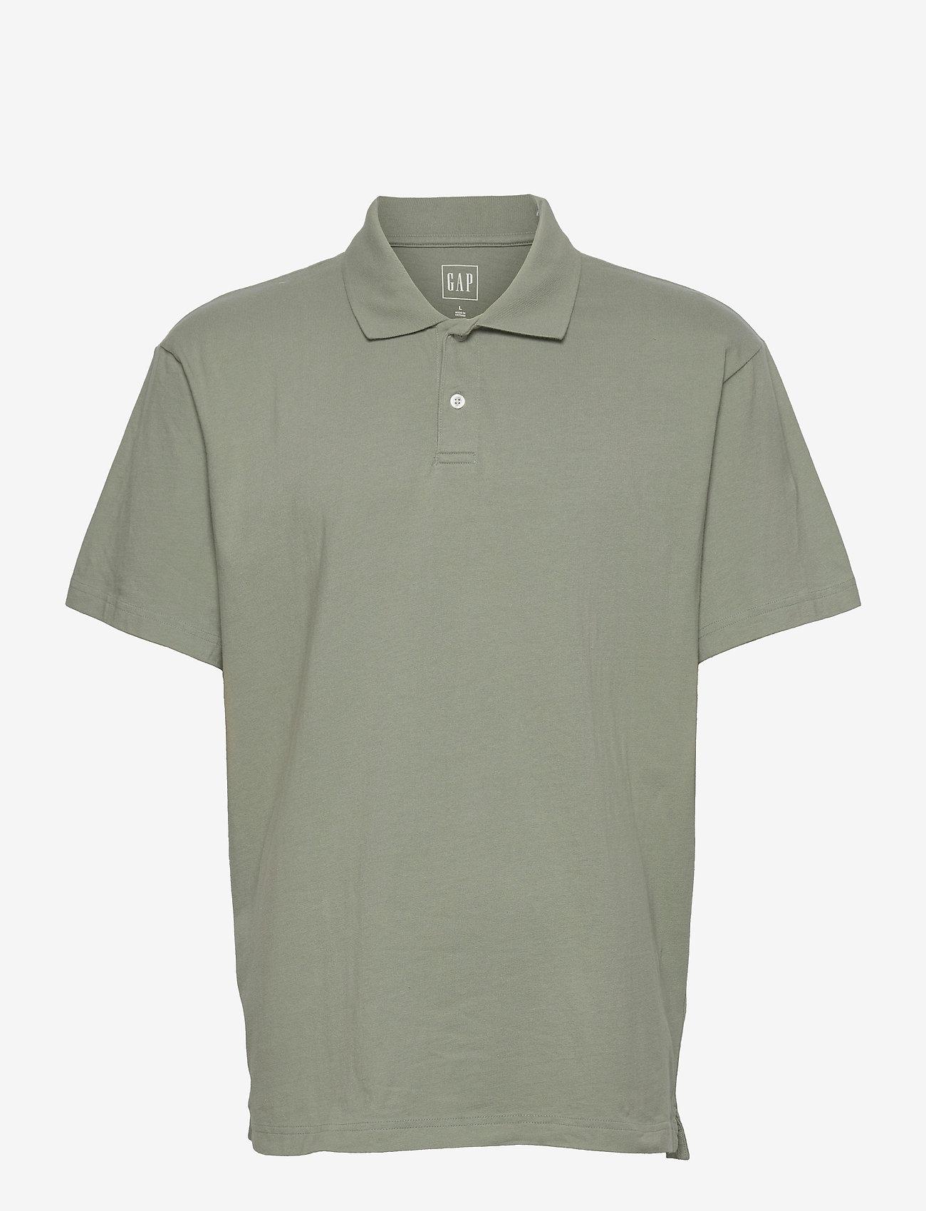 GAP - Organic Cotton Polo Shirt - poloshirts - sage - 0