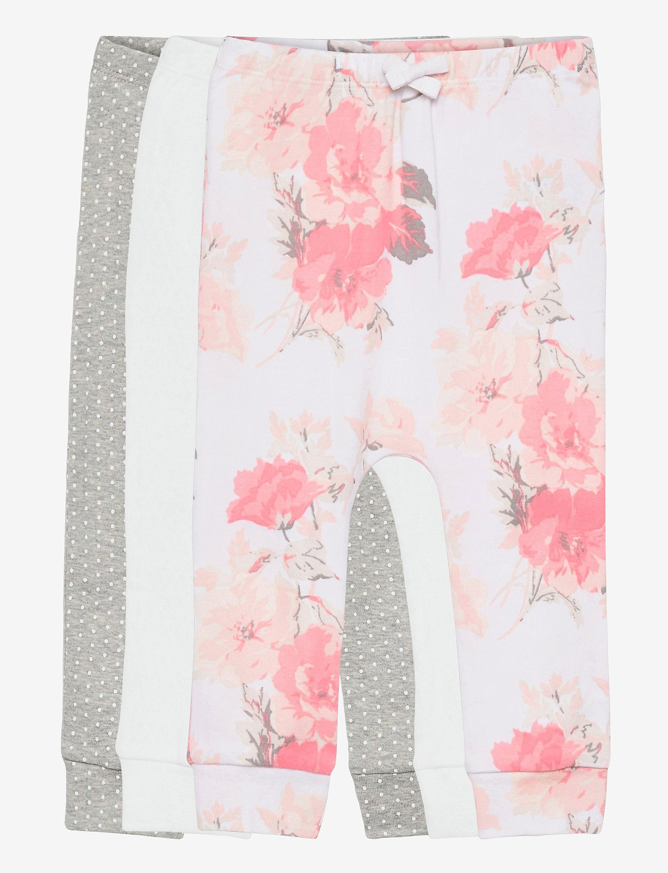GAP - Baby Floral Pull-On Pants (3-Pack) - trousers - optic white - 0
