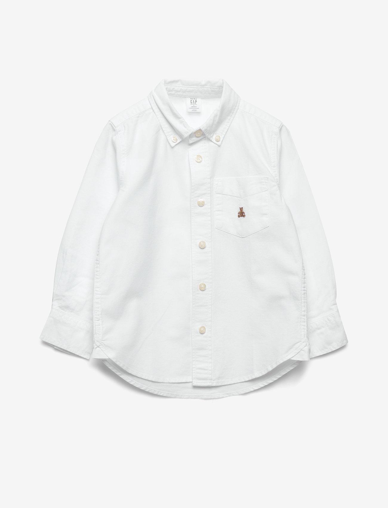 GAP - Toddler Oxford Button-Down Shirt - shirts - white - 0