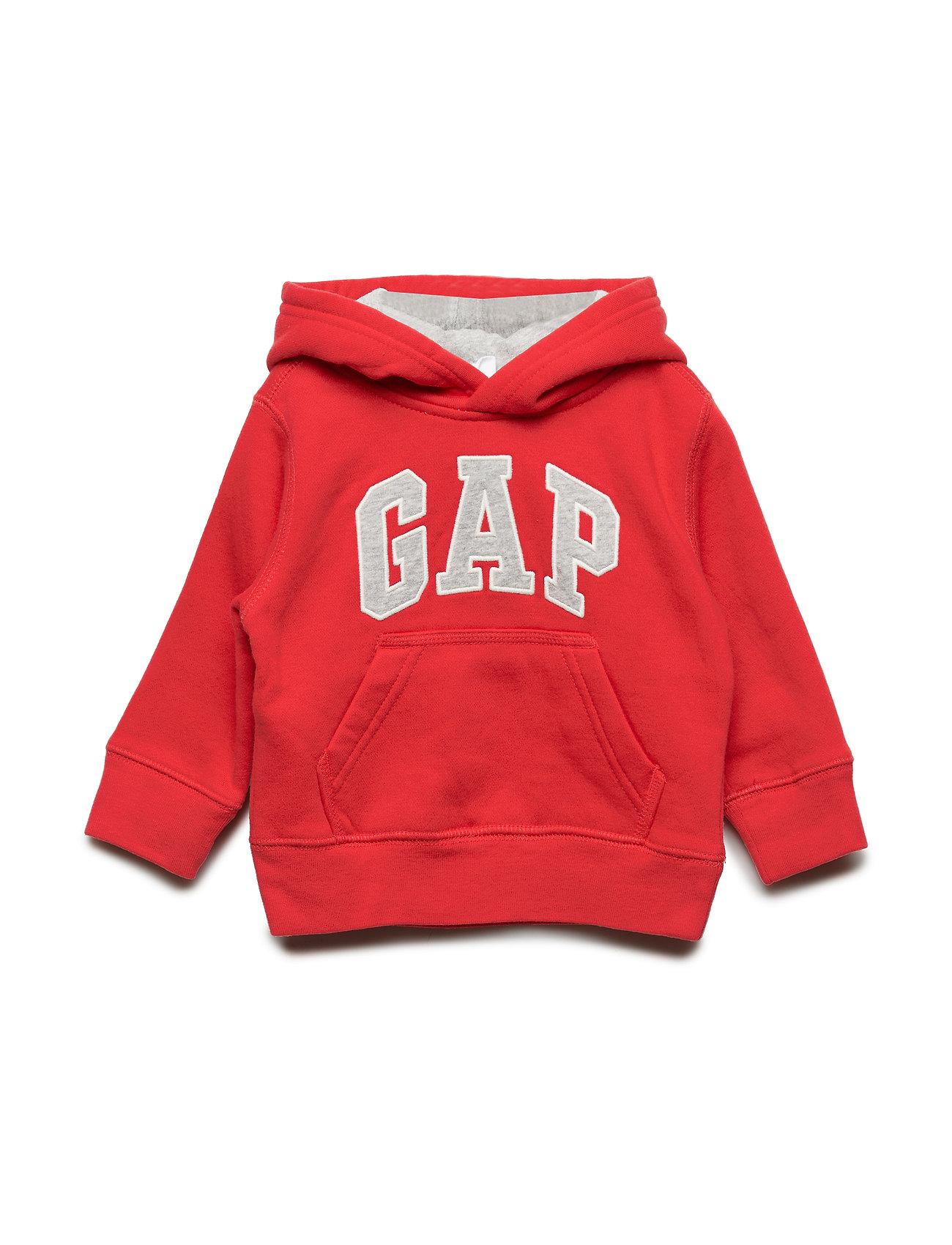 GAP Toddler Gap Logo Hoodie Sweatshirt - RED WAGON