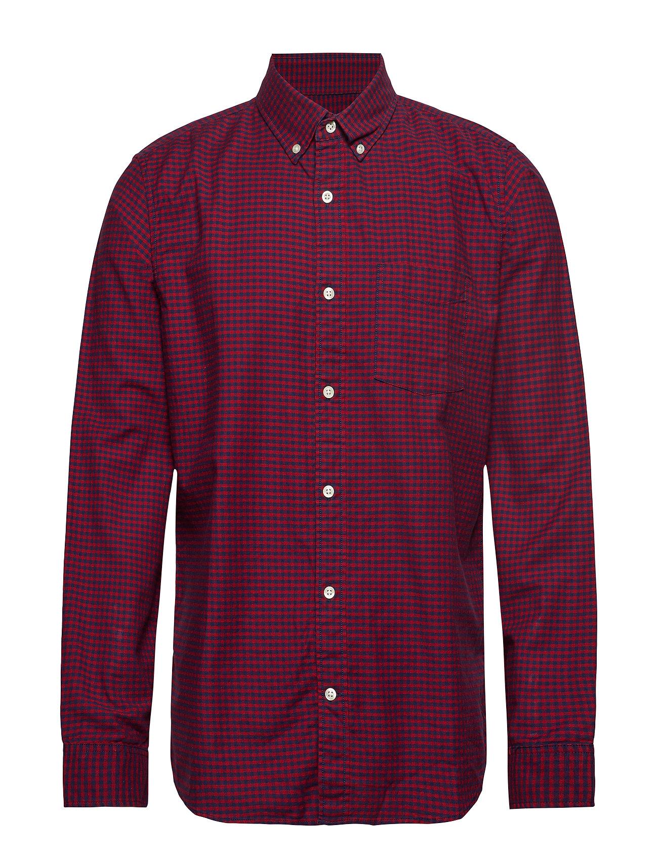 GAP Lived-In Stretch Oxford Shirt - MODERN RED 2