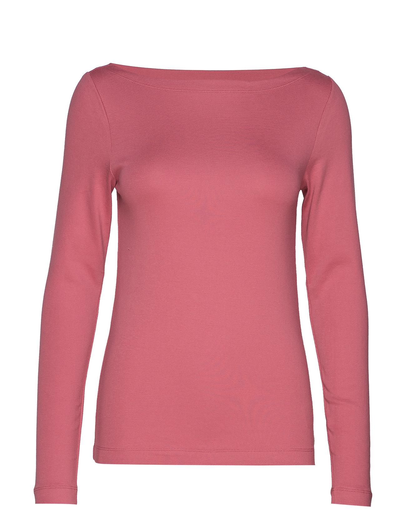 GAP Modern Long Sleeve Boatneck T-Shirt - WILD ROSE