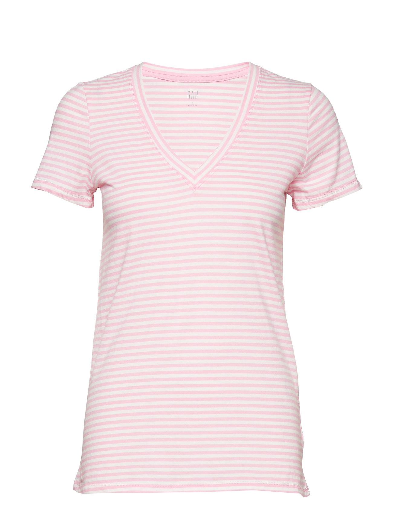 GAP Vintage Wash Stripe V-Neck T-Shirt